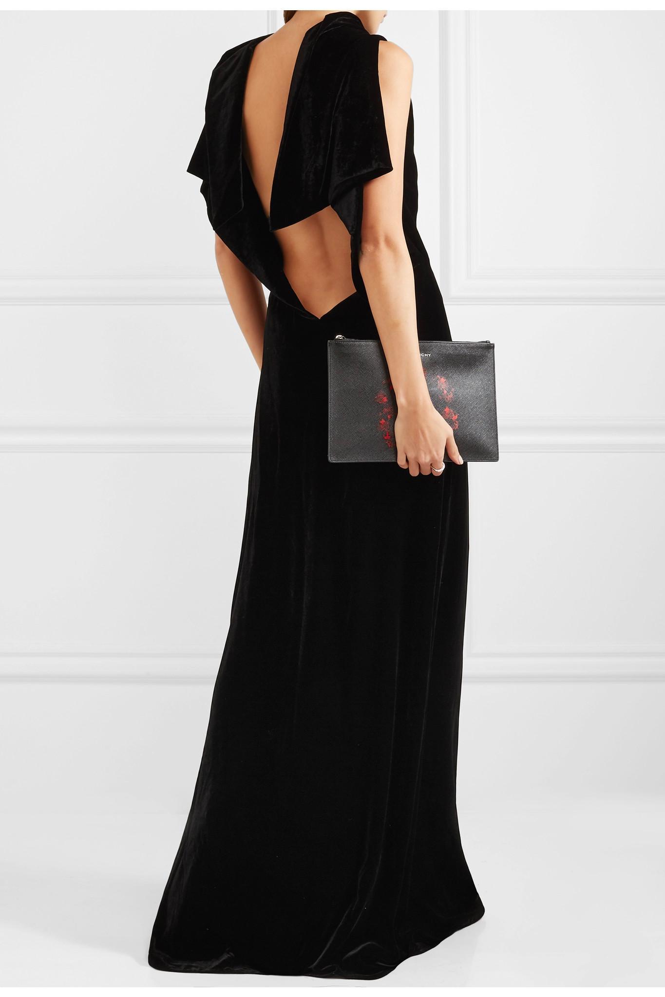 eb4e0afd017b04 Lyst - Gareth Pugh Open-back Velvet Gown in Black
