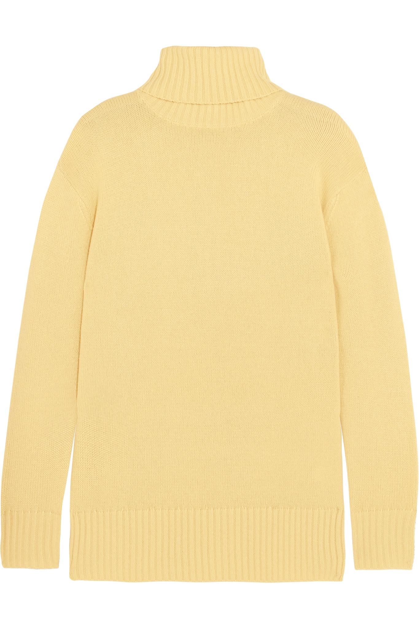 Chloé Cashmere Turtleneck Sweater in Yellow | Lyst