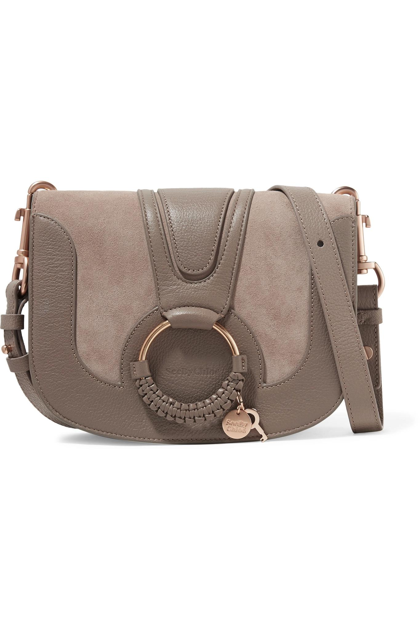 Hana Small Textured-leather And Suede Shoulder Bag - Tan See By Chloé Classic Online Discount Huge Surprise Cheapest Price Sale Online Clearance Sneakernews Where To Buy Cheap Real JKCOI5QBw