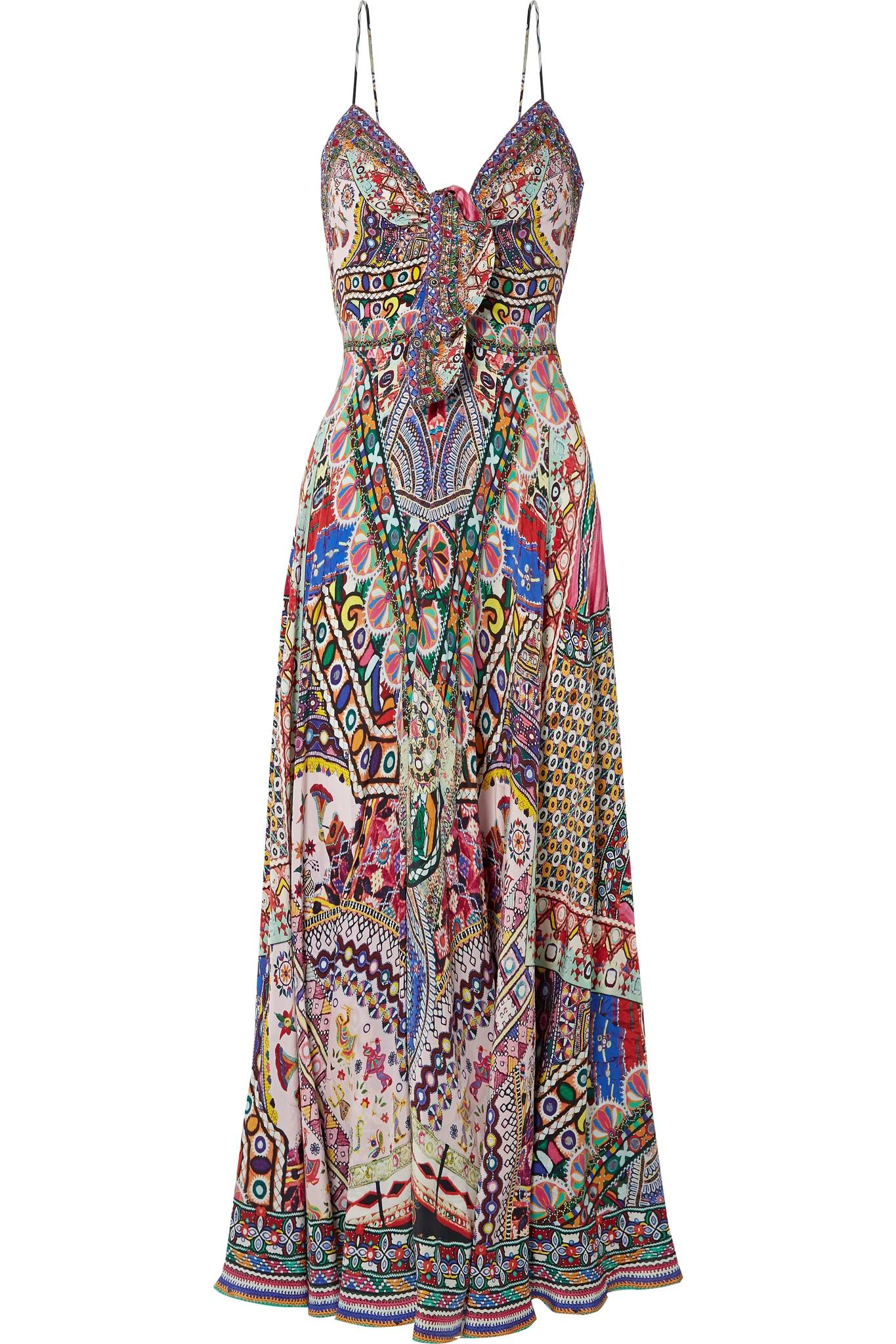 Outlet Cheap Outlet For Nice The Long Way Home Embellished Printed Silk Crepe De Chine Maxi Dress - Pink Camilla Clearance Online NZIW1