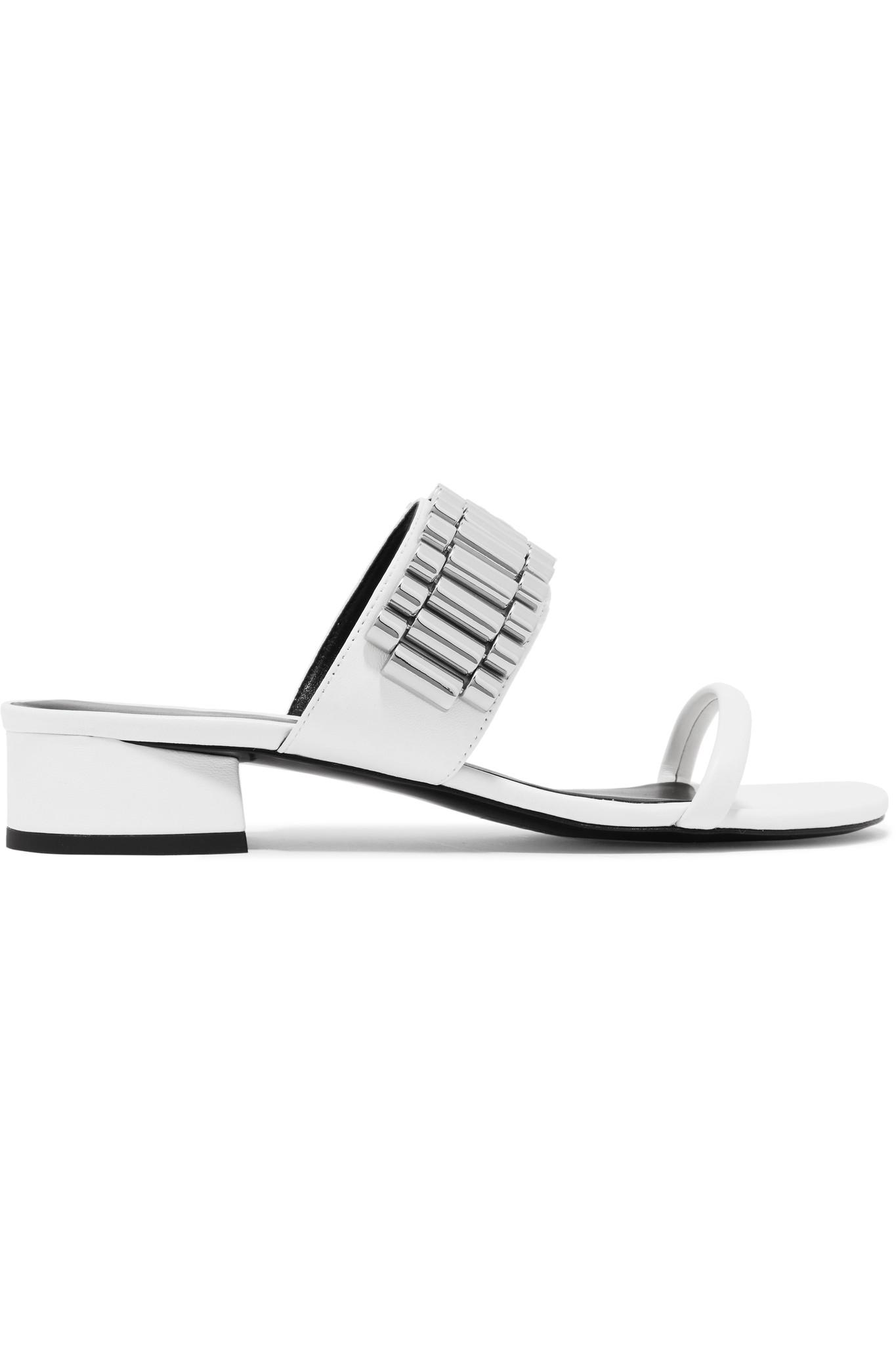 Drum Chain-embellished Leather Sandals - Black 3.1 Phillip Lim 81Ncux8yfO