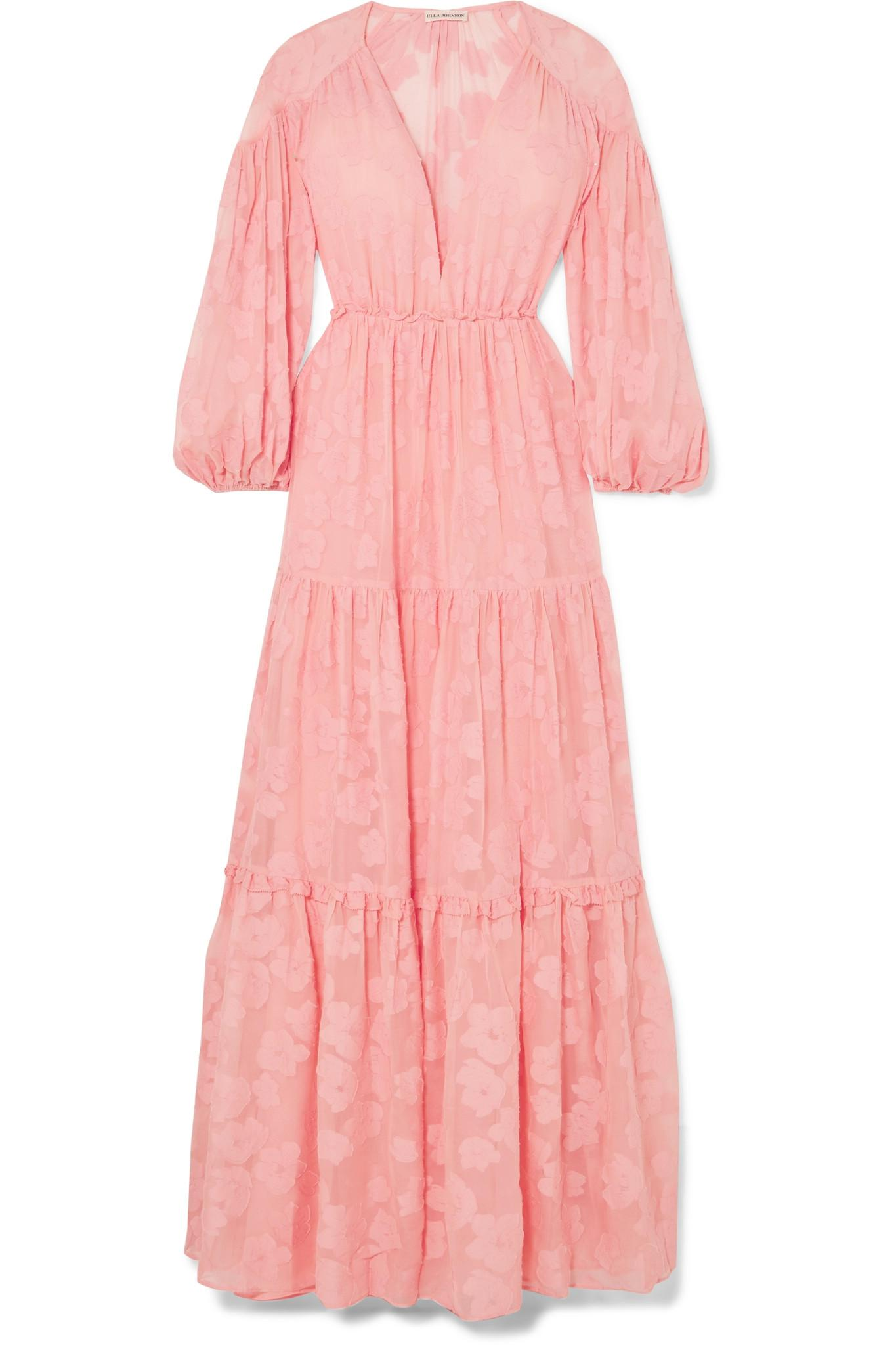 86936b9de9 ulla-johnson-blush-Margaux-Fil-Coupe-Silk-And-Cotton-blend-Chiffon-Maxi- Dress.jpeg