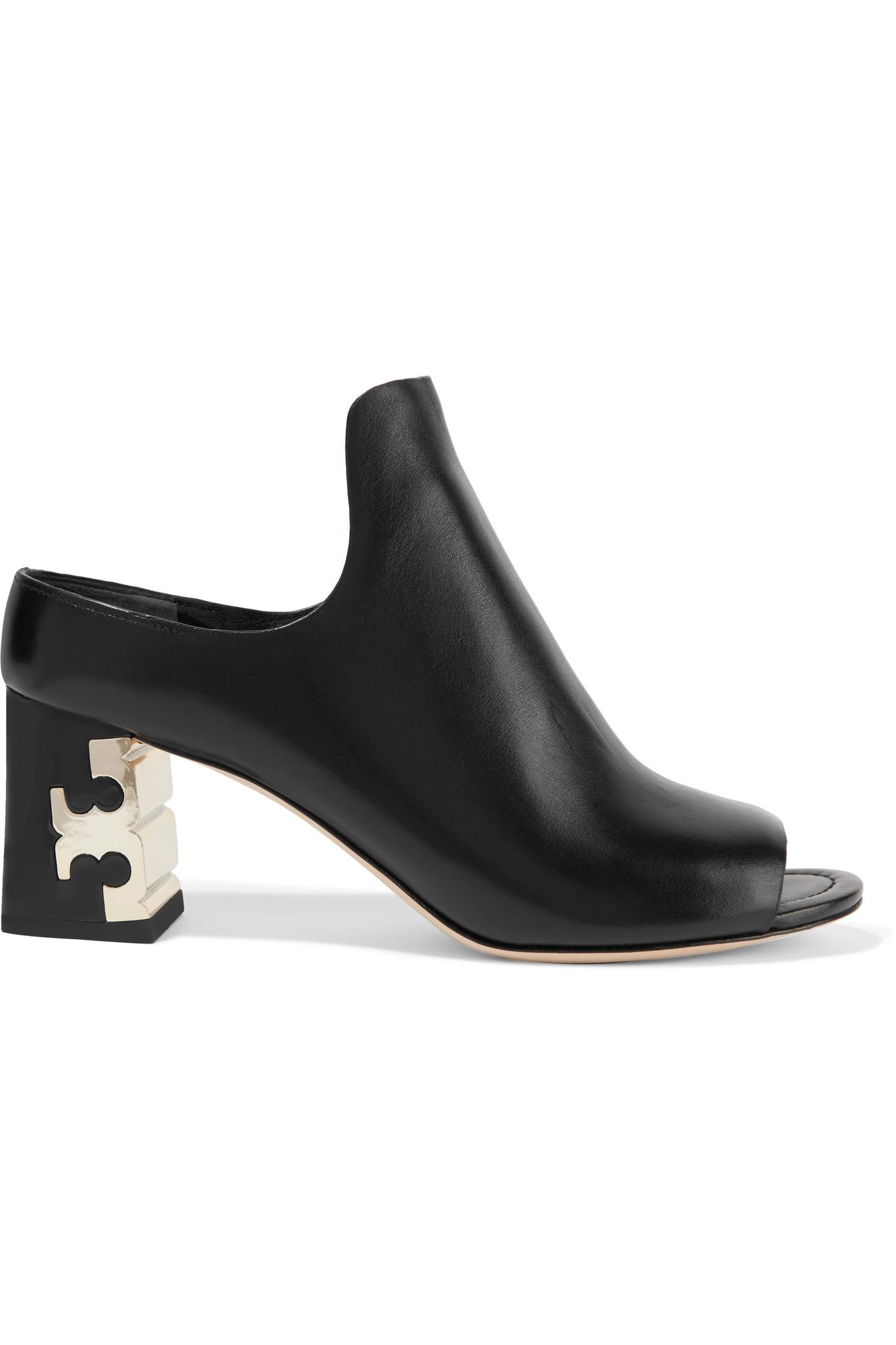 Lyst Tory Burch Finley Leather Mules In Black