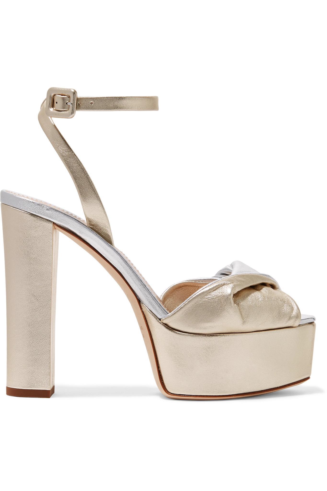 d1de0f70241 Giuseppe Zanotti. Women s Lavinia Metallic Leather Platform Sandals
