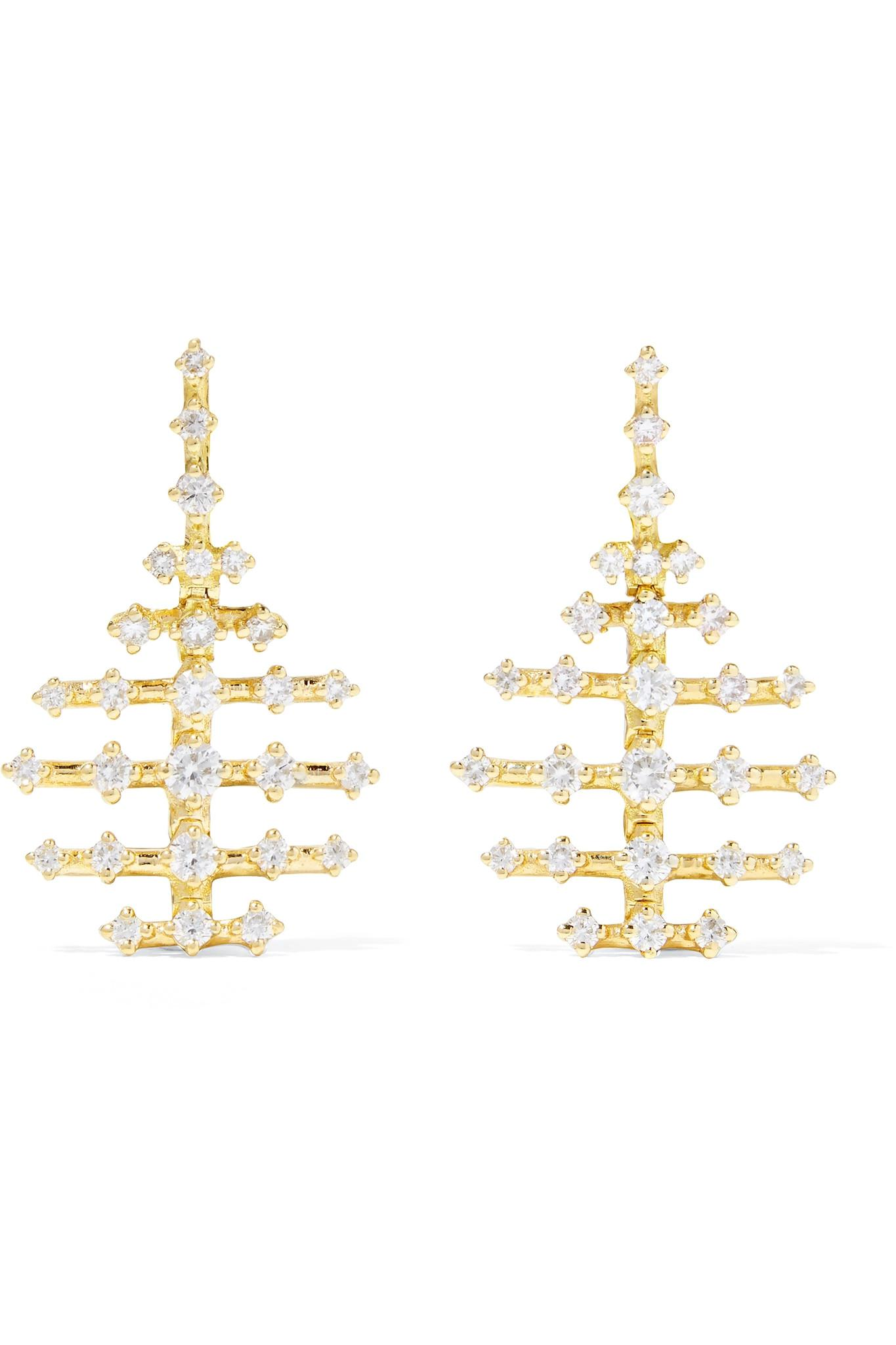 Fernando Jorge Mini Disco 18kt gold & diamond earrings