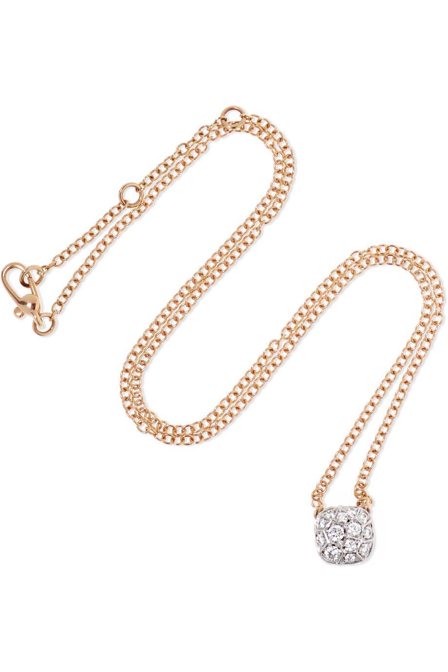 Nudo Solitaire 18-karat White And Rose Gold Diamond Necklace - White gold POMELLATO B99H7tB4