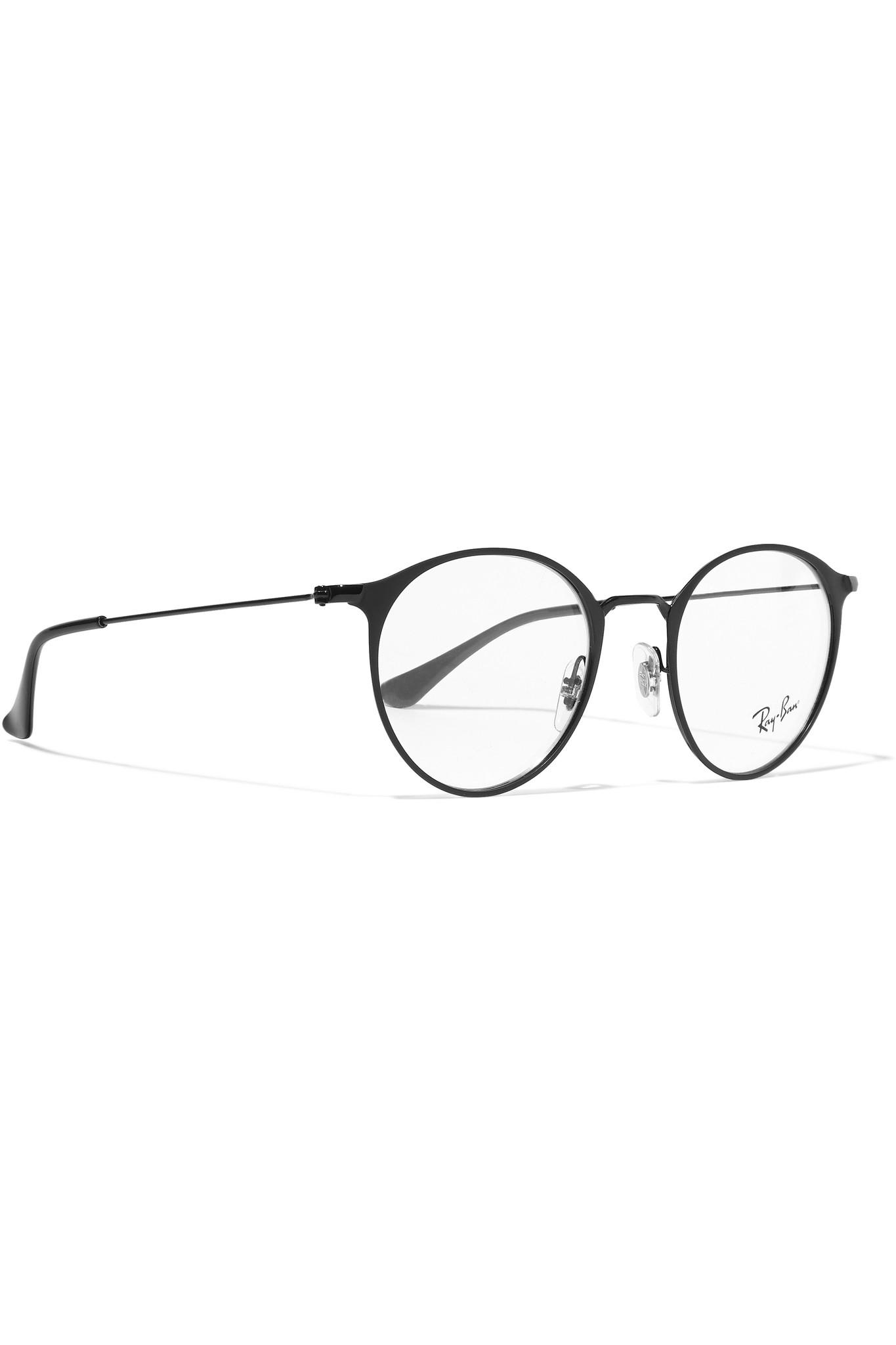 d8e4533d32 ... reduced lyst ray ban round frame metal optical glasses 5a873 80160