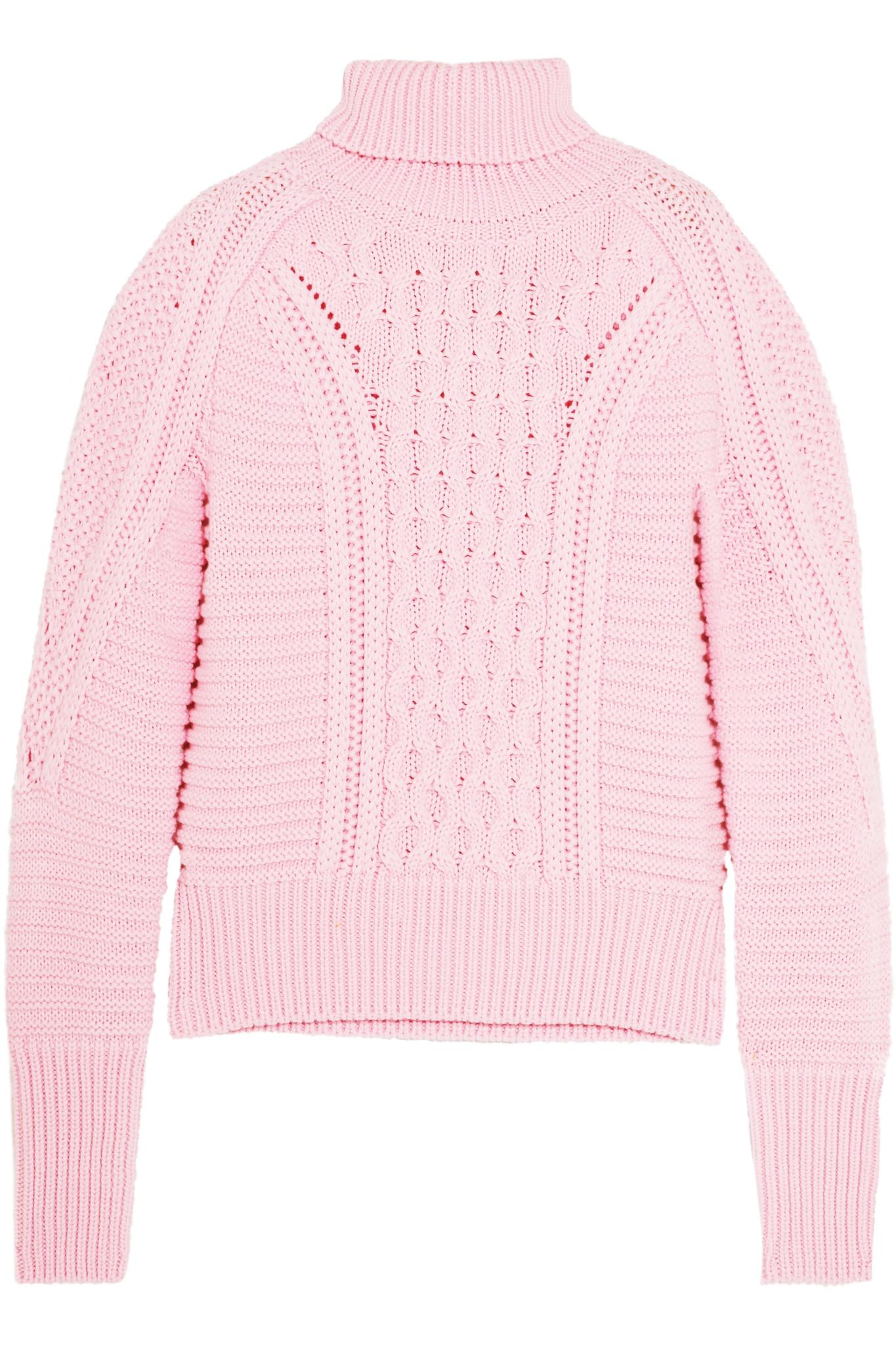 Mary katrantzou Lancelot Cable-knit Wool Turtleneck Sweater in ...