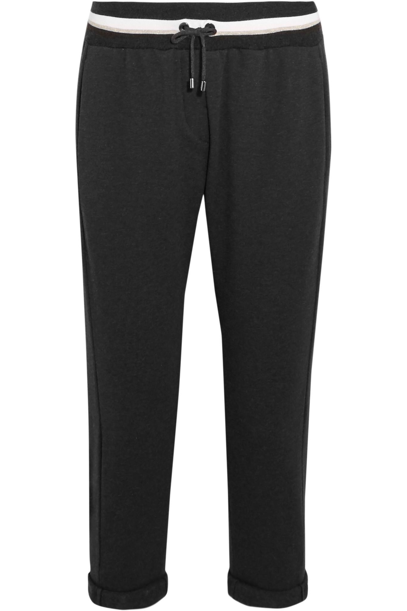 Wonderful Dries Van Noten Cotton Track Pants Grey Women TGNuU9hu736  4896