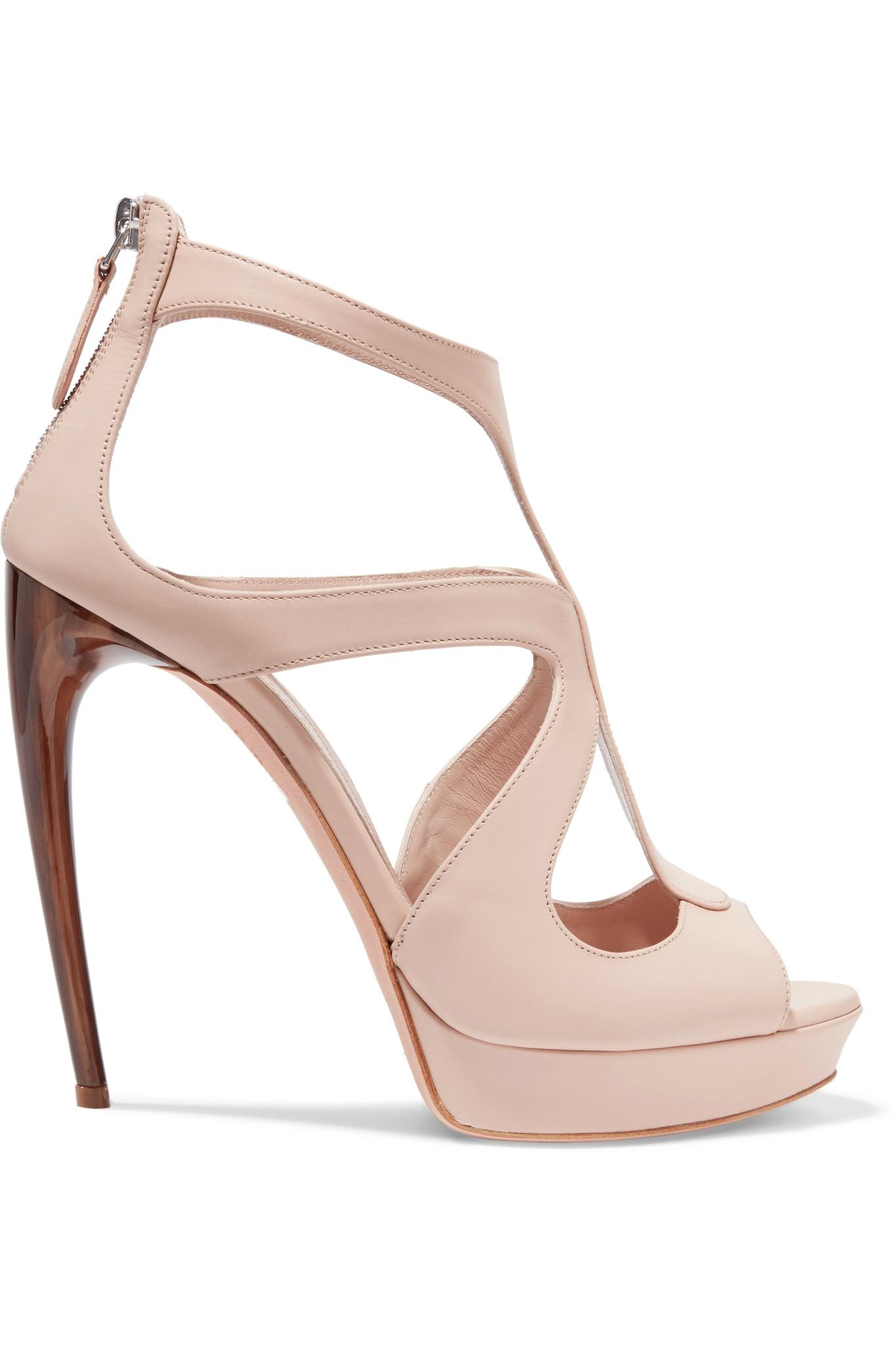 cheap limited edition outlet new styles Alexander McQueen Platform Leather Sandals cheap outlet store cQNLvCt2