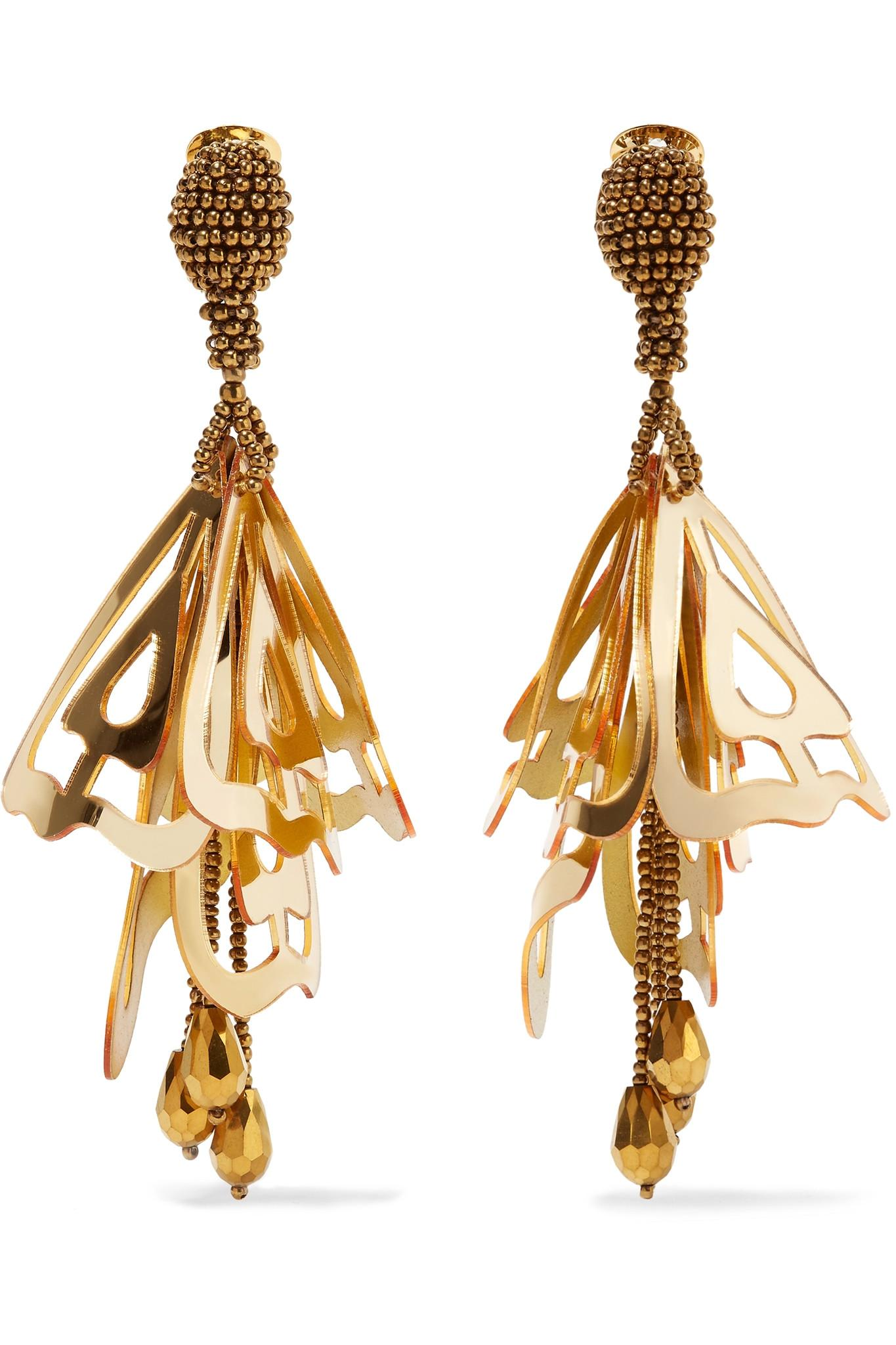Oscar De La Renta Large Impatiens Gold Tone Resin Clip Earrings Gold as well Love Now Resortwear moreover Fall Winter 2016 2017 Accessory Trends besides Thing likewise Thing. on oscar de la renta beaded earrings