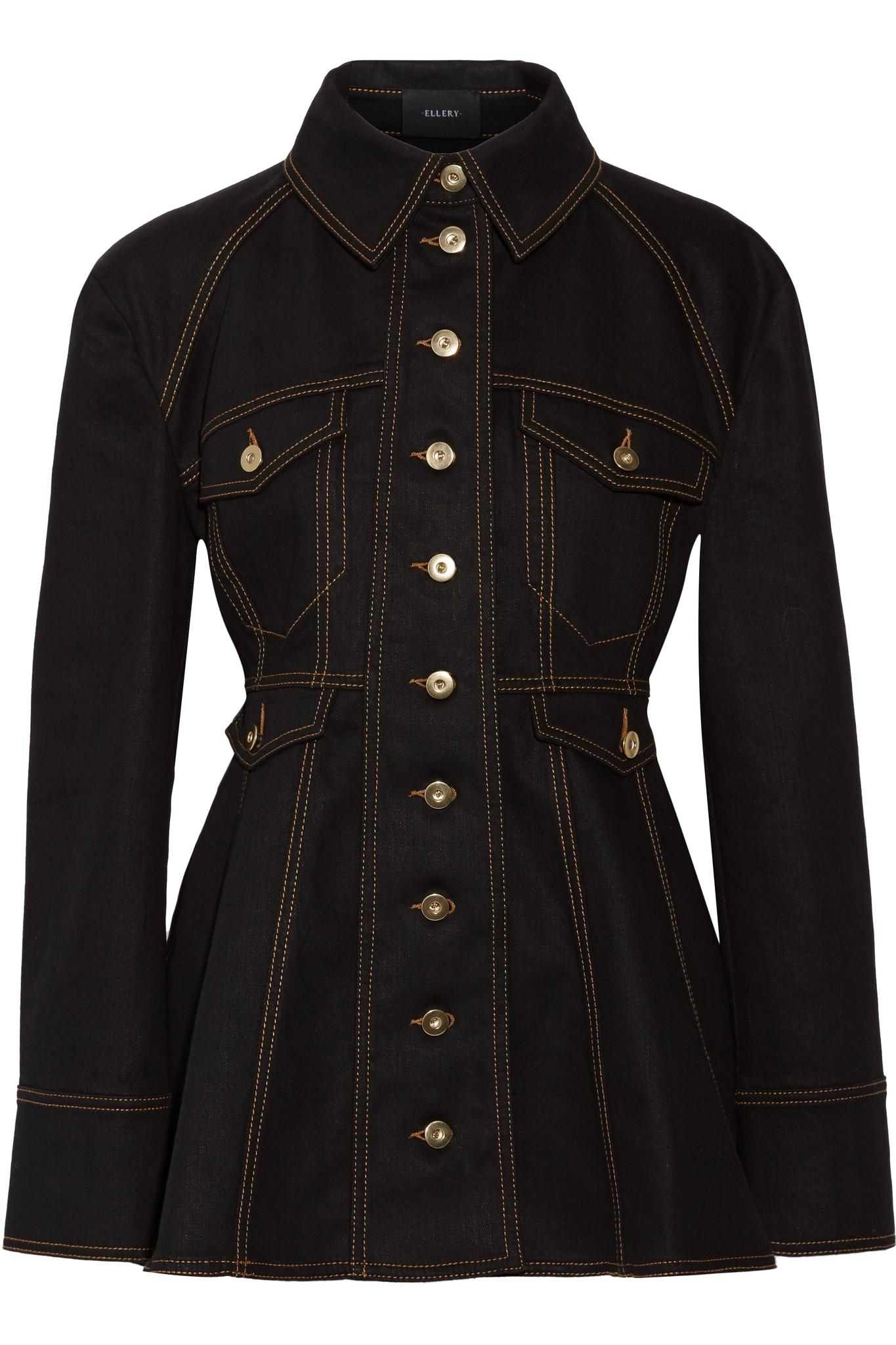 Lyst Ellery Bonnie Denim Peplum Jacket In Black