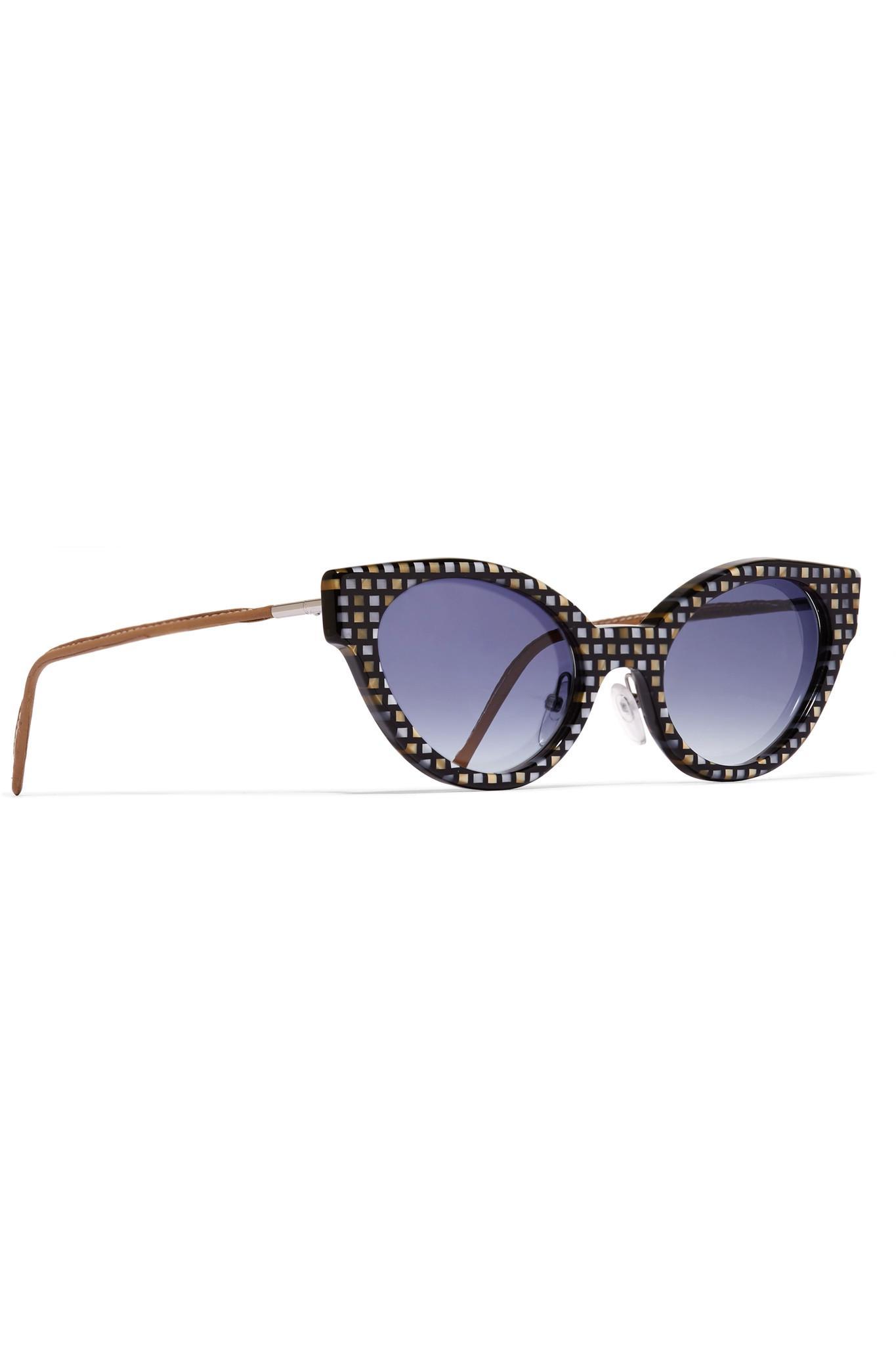 Gafas acetato Gross de con Black de cubista gato And de corte ojo cuero sol de Cutler y rtUqgr