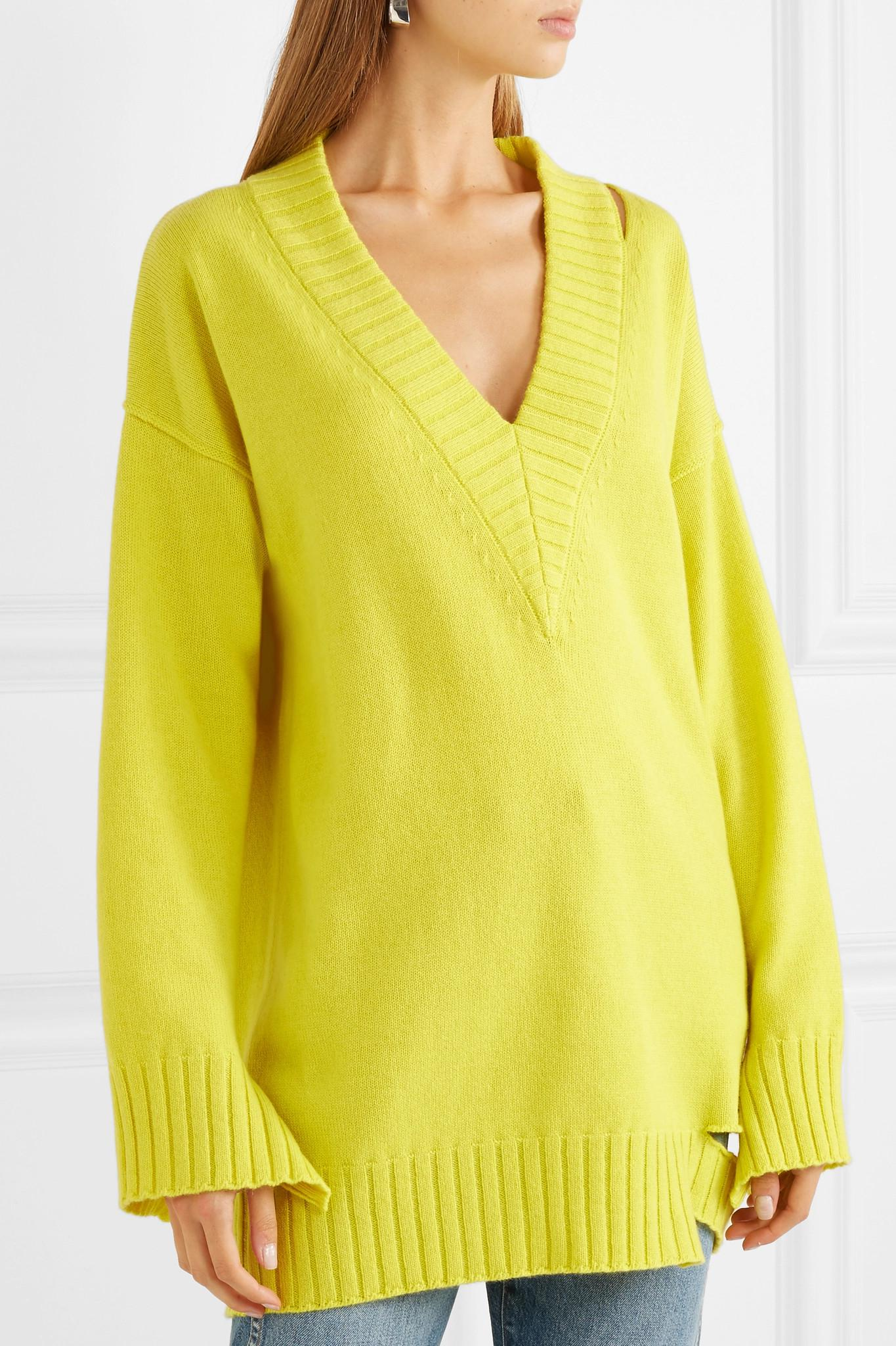 dde6121788 Tre by Natalie Ratabesi Kirsten Oversized Cutout Cashmere Sweater in ...