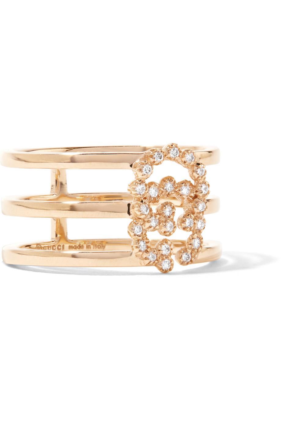 Gucci 18-karat Gold Diamond Ring I0Z2XANa