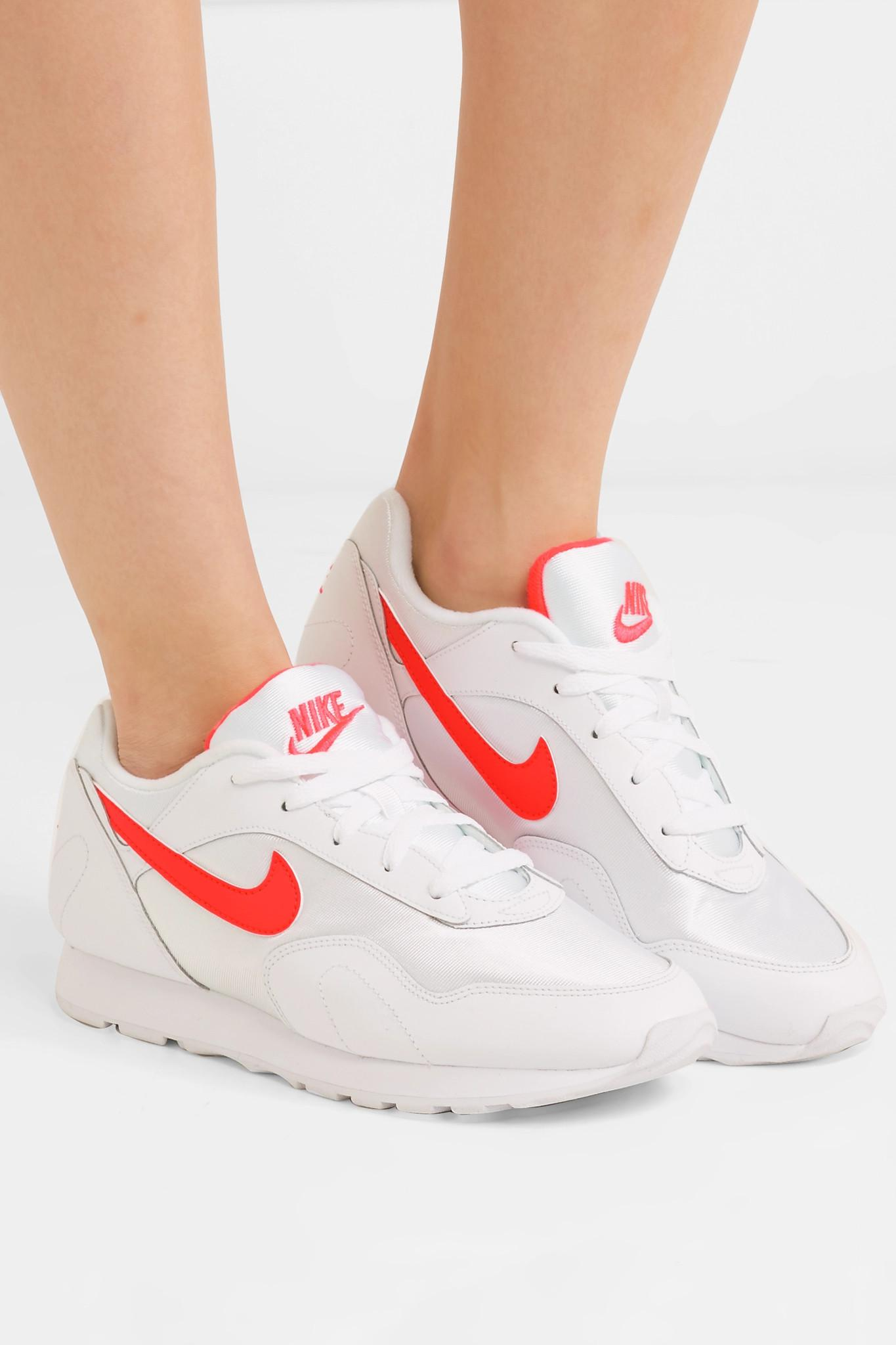 newest bd4c6 aec3f Nike - White Outburst Og Leather And Mesh Sneakers - Lyst. View fullscreen