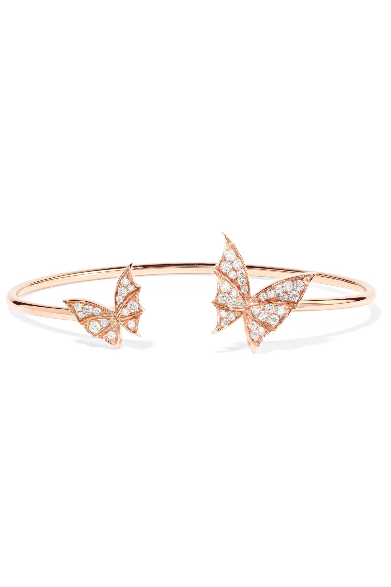 Stephen Webster Fly By Night 18-karat Rose Gold Diamond Cuff h9DVcREFUD