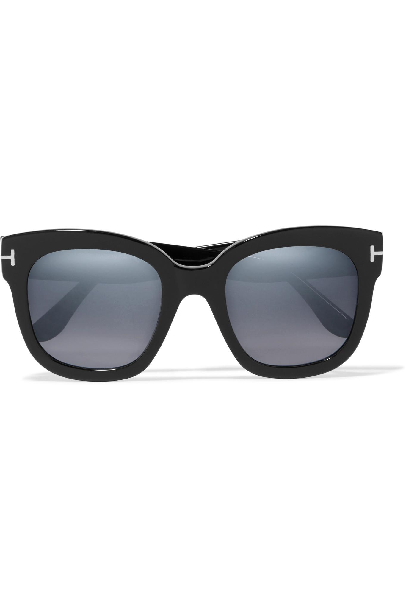 2420d38419083 Lyst - Tom Ford Cat-eye Acetate Sunglasses in Black