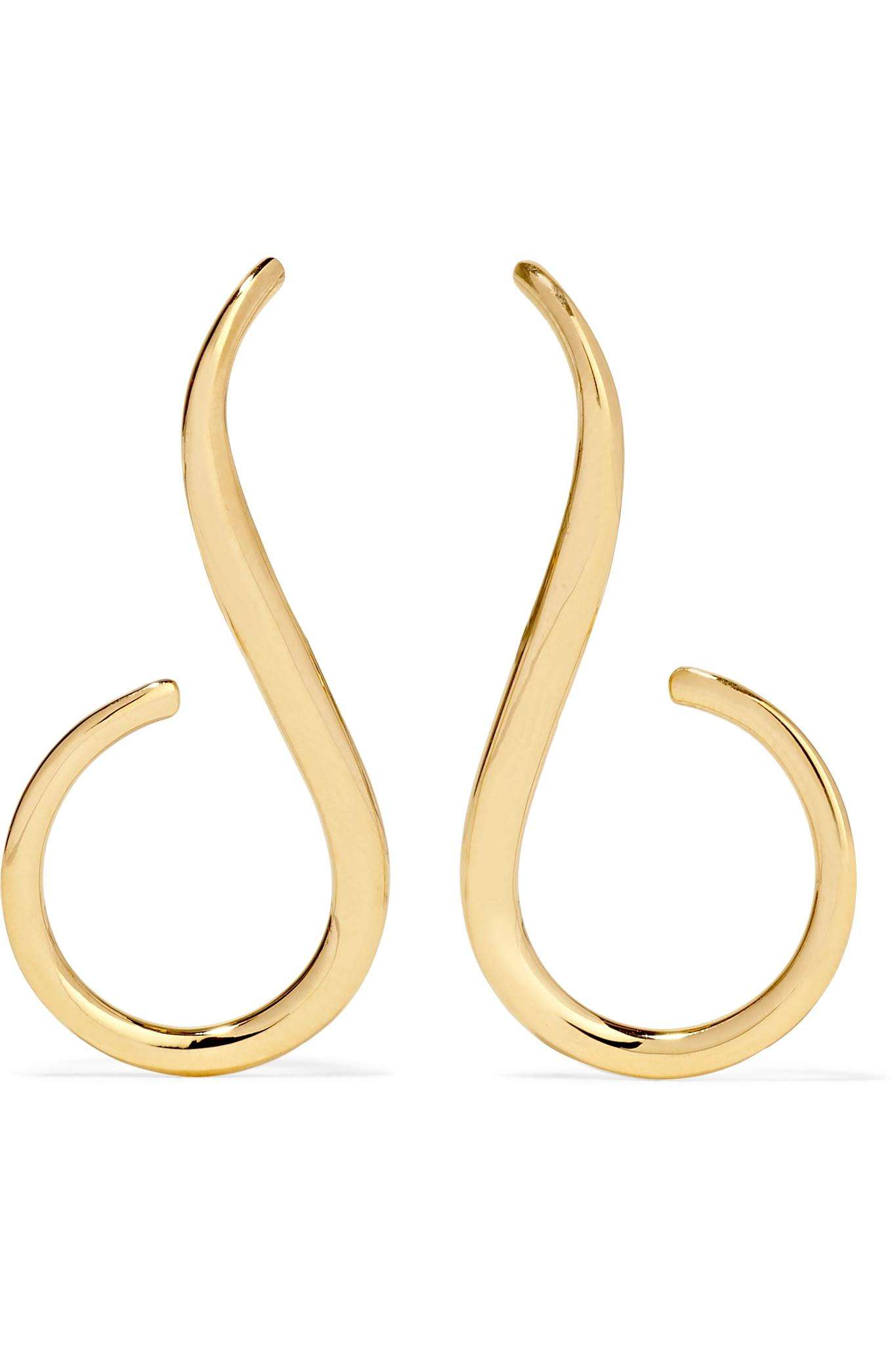 Melissa Kaye Aria Grace 18-karat Gold Earrings ZYdbOr