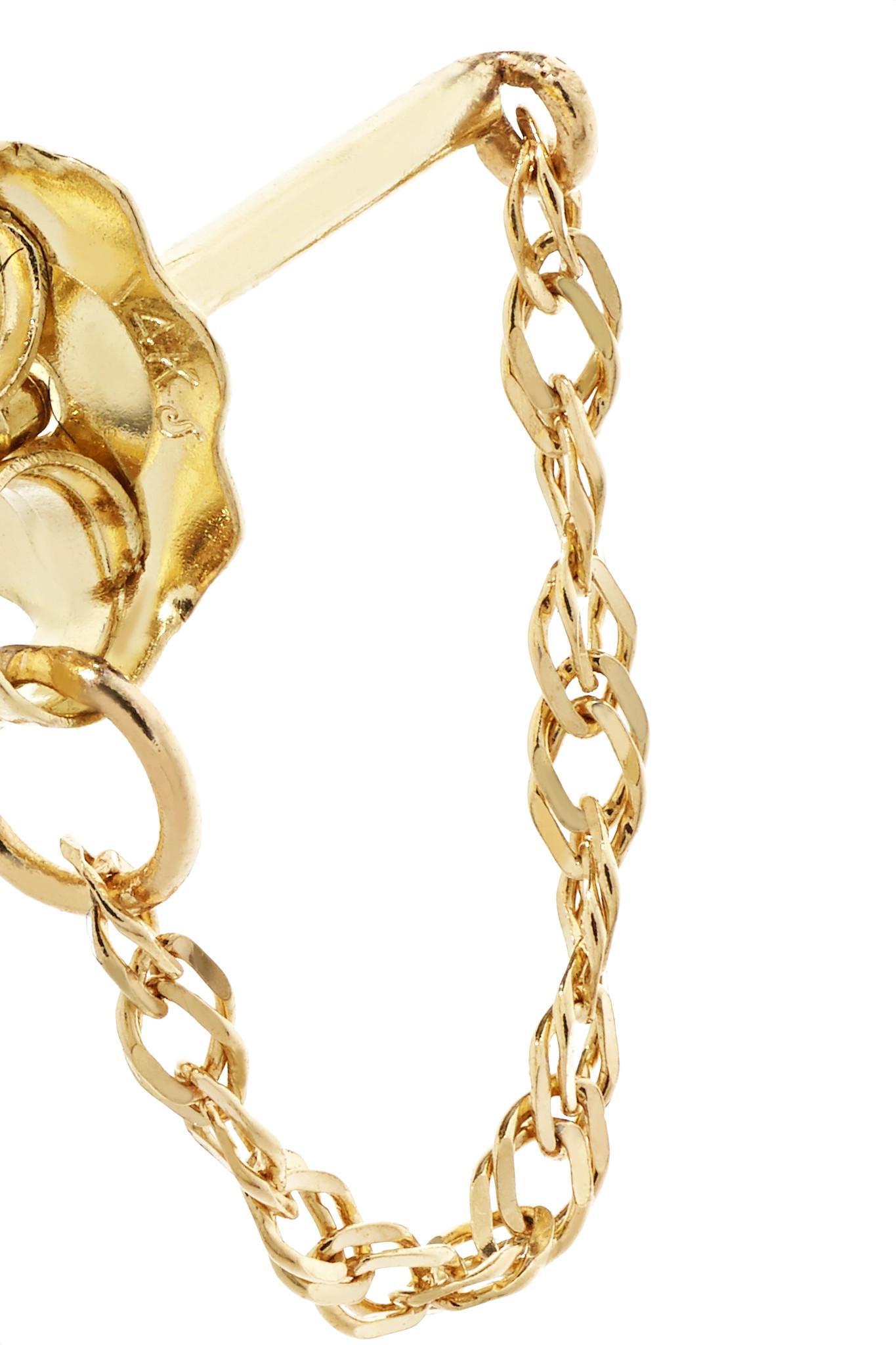 Lyst Catbird Sweet Nothing 14 Karat Gold Earrings In Metallic