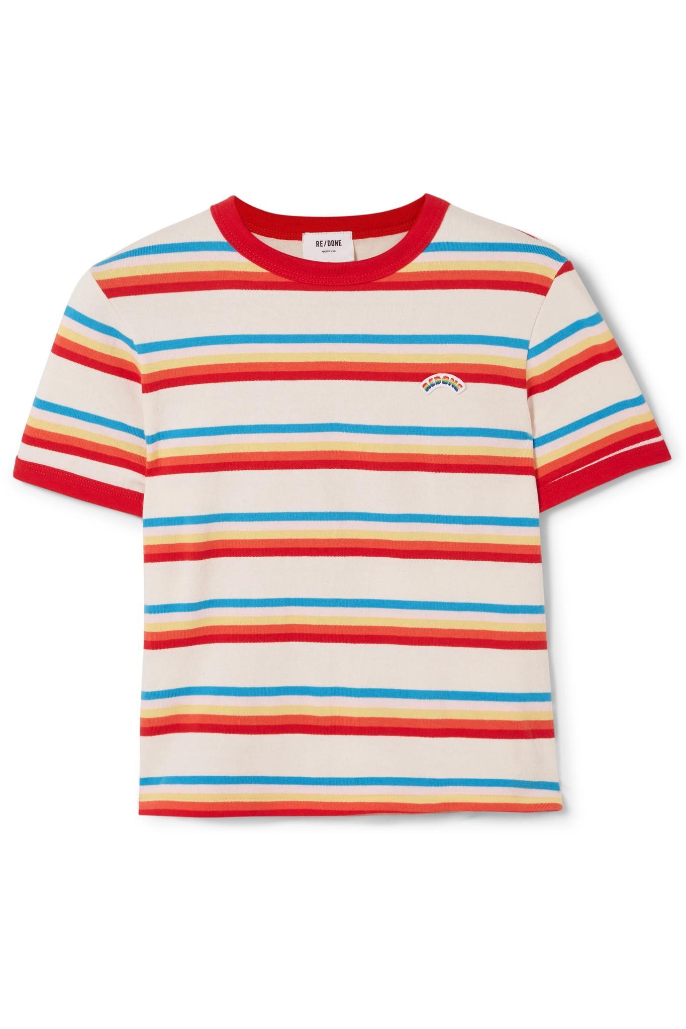 cc8197c30966b T-shirt En Jersey De Coton à Rayures Années 70 RE/DONE en coloris ...
