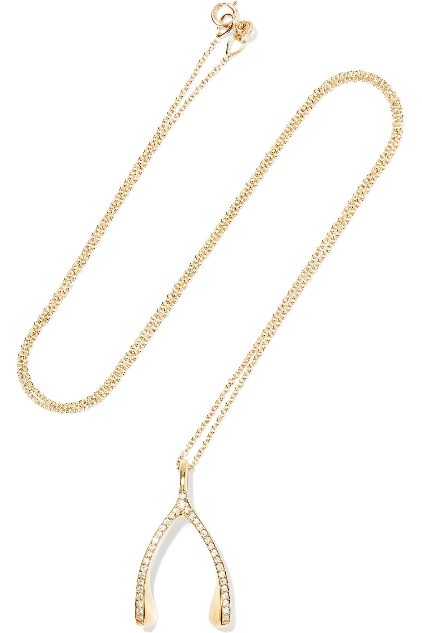 Wishbone Necklace Diamond