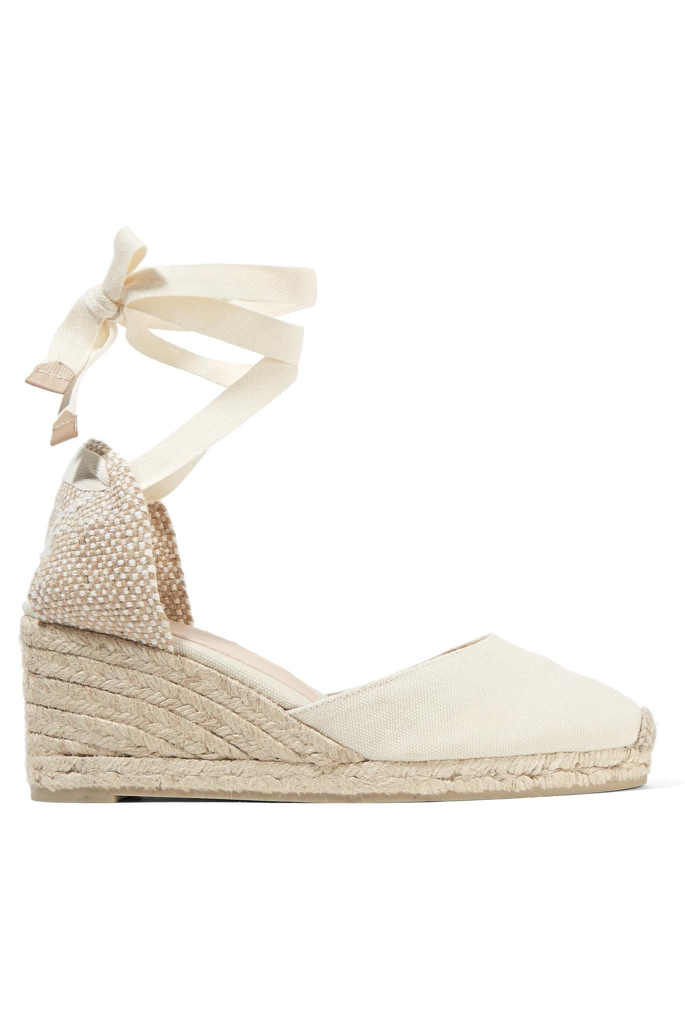 8e15870a710 Castaner Carina 60 Canvas Wedge Espadrilles in White - Lyst