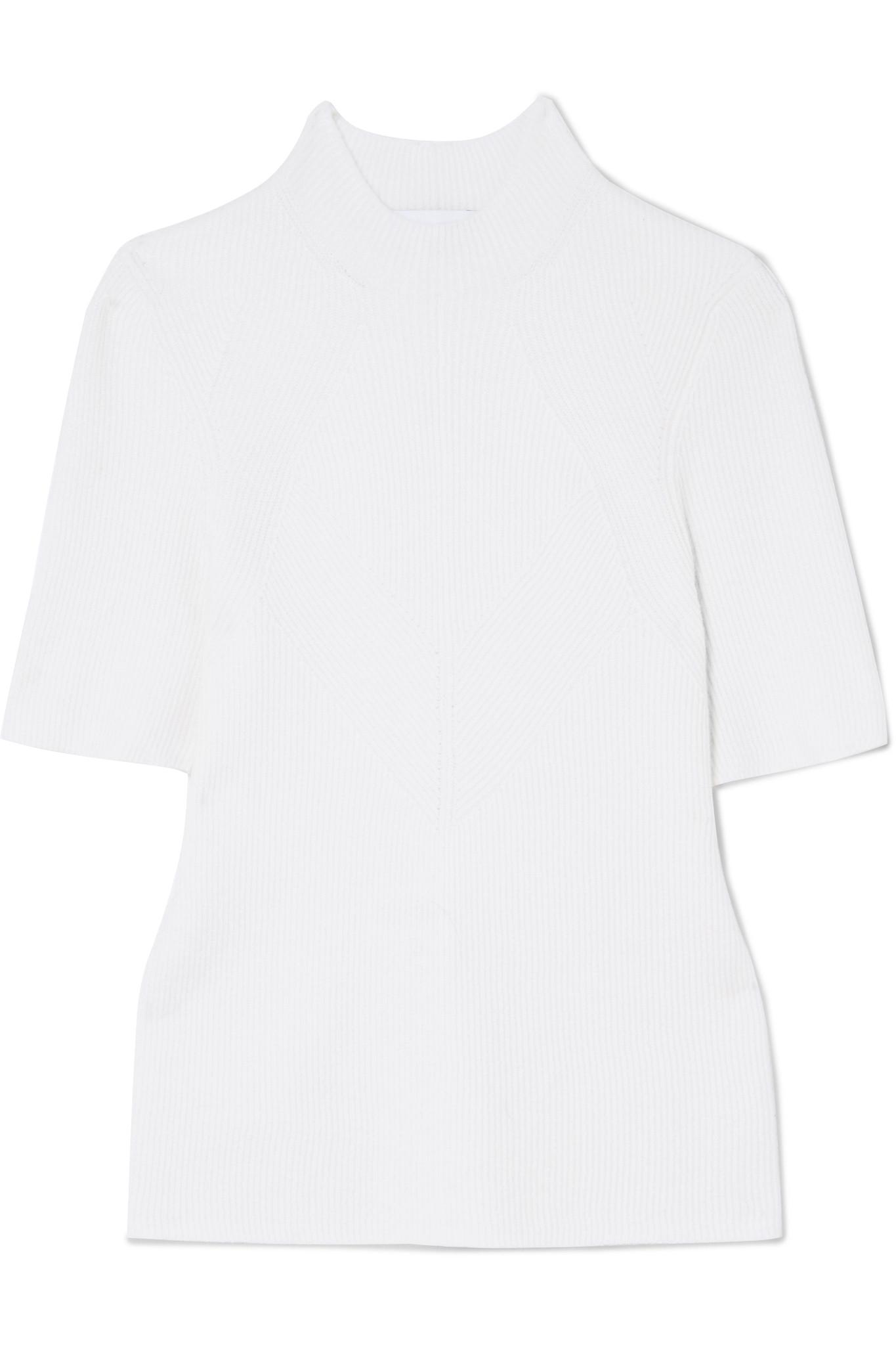 Ribbed Wool And Cashmere-blend Sweater - White Narciso Rodriguez Free Shipping Prices Buy Cheap Sale New Arrival Factory Outlet 2018 Unisex Sale Online cd8Xu