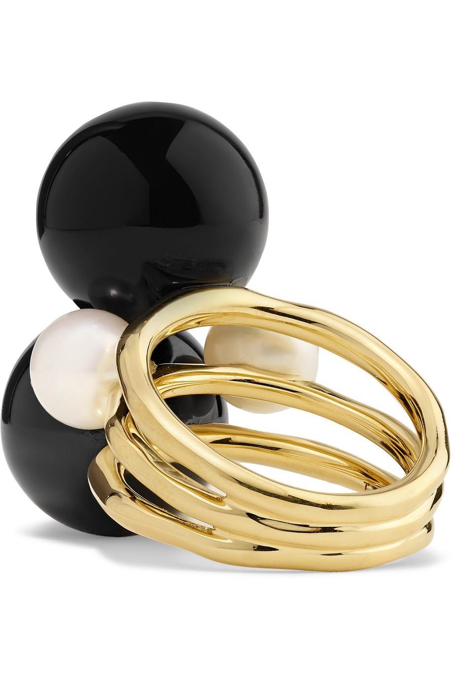 Nova 18-karat Gold, Onyx And Pearl Ring - 6 Ippolita
