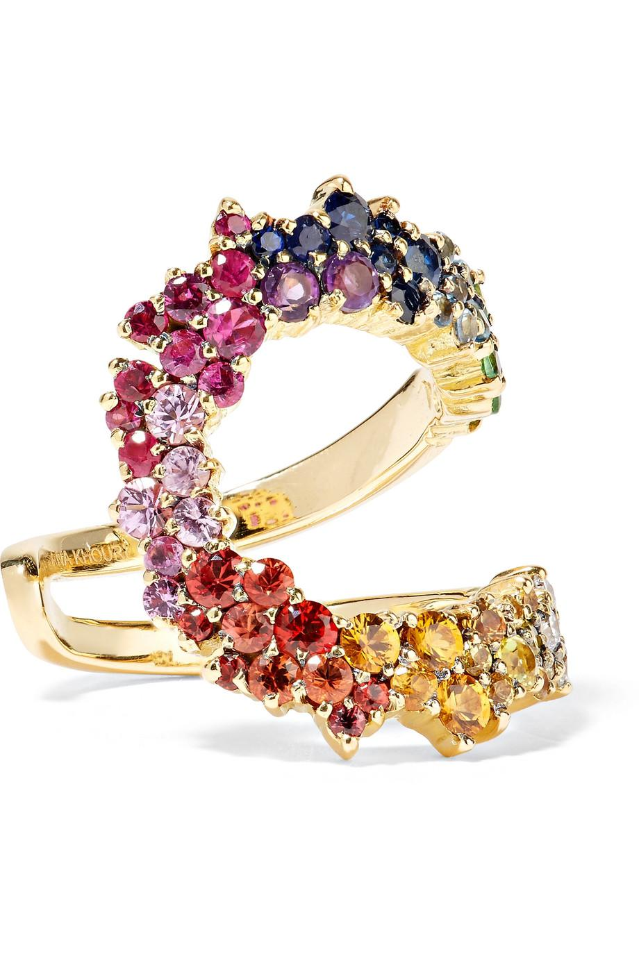 Ana Khouri Multicolored Mirian 18-karat Gold Sapphire Ring