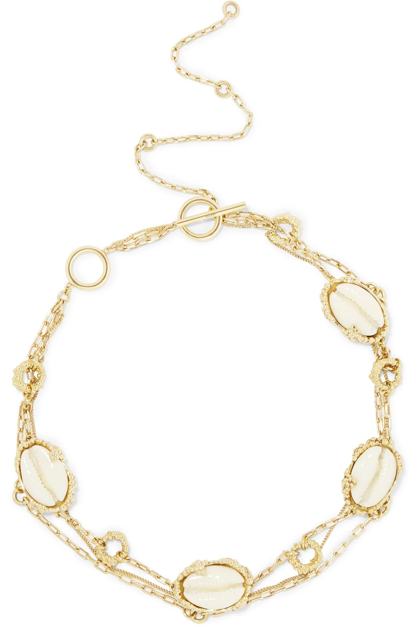 Igneous shell gold-plated choker Ellery nxw0Hz9P0