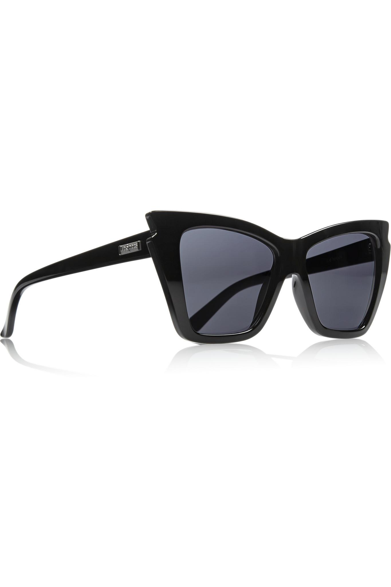 2bb4465cfa Lyst - Le Specs Rapture Cat-eye Acetate Sunglasses in Black - Save 8%