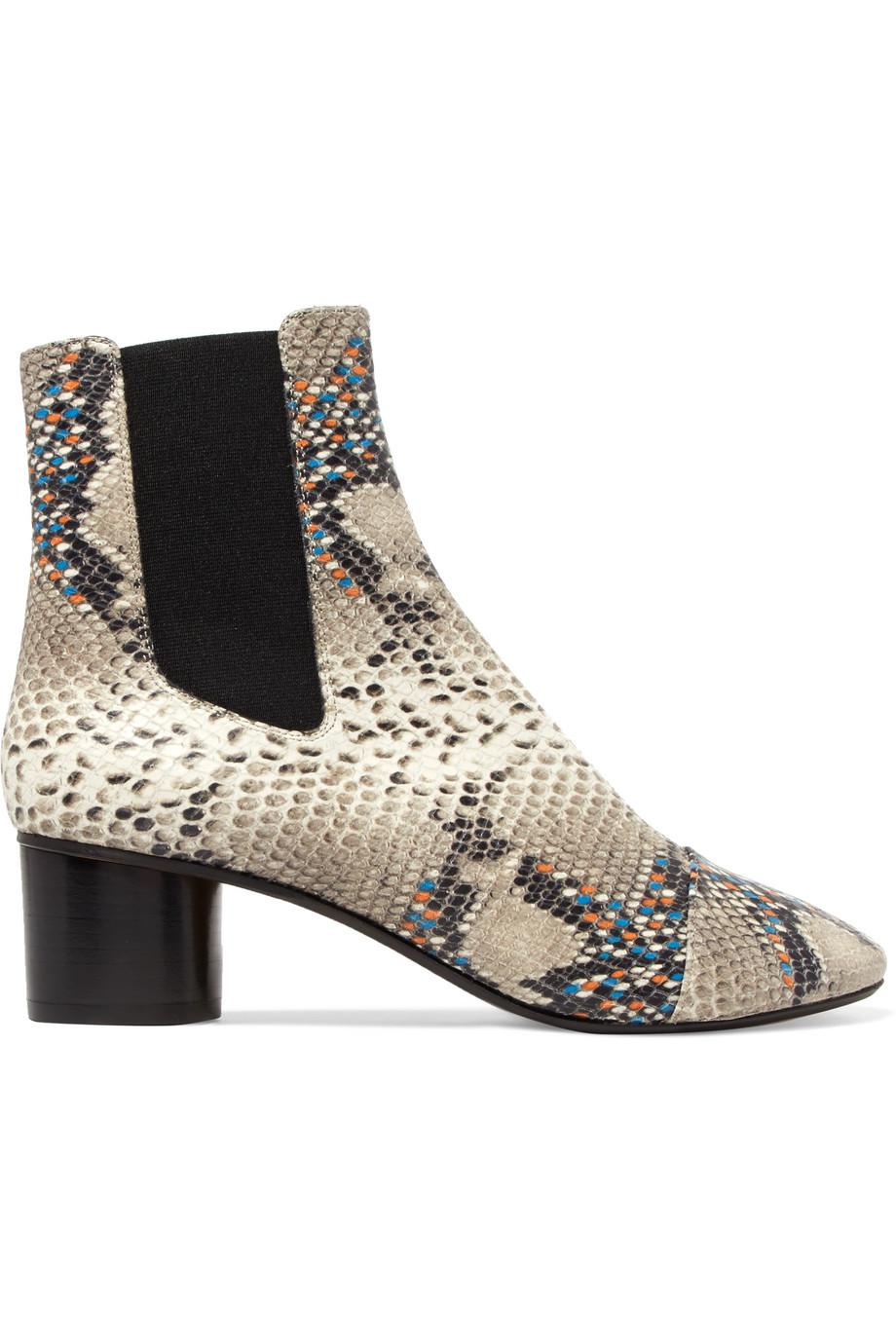 snake print ankle boots - Grey Isabel Marant Discount From China a7Xg7ei
