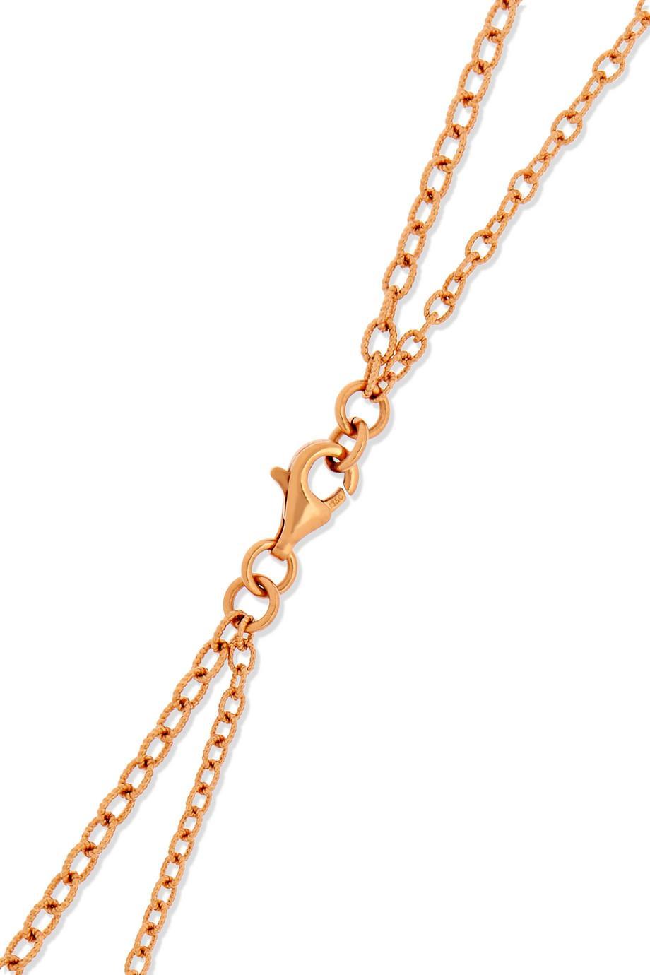 Carolina Bucci Matchstick 18-karat Rose Gold Necklace yk4W5F