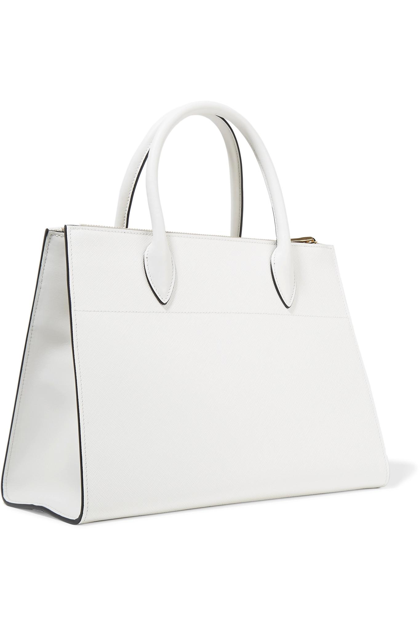 7ea3060eead8 ... italy lyst prada paradigme textured leather tote in white 8a3d8 e8f46