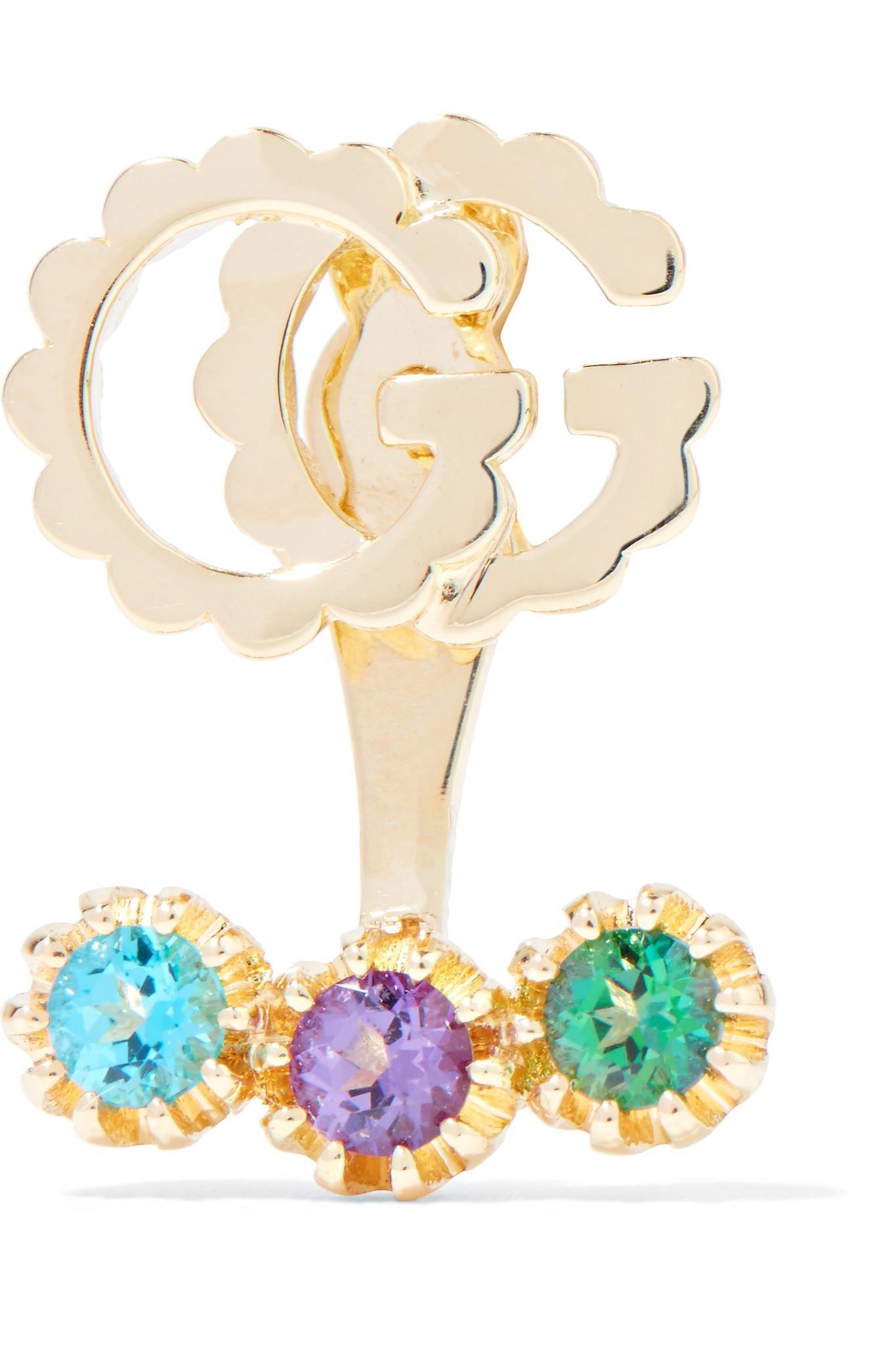 Gucci 18-karat Gold Topaz Earring z3vxtSOAJ