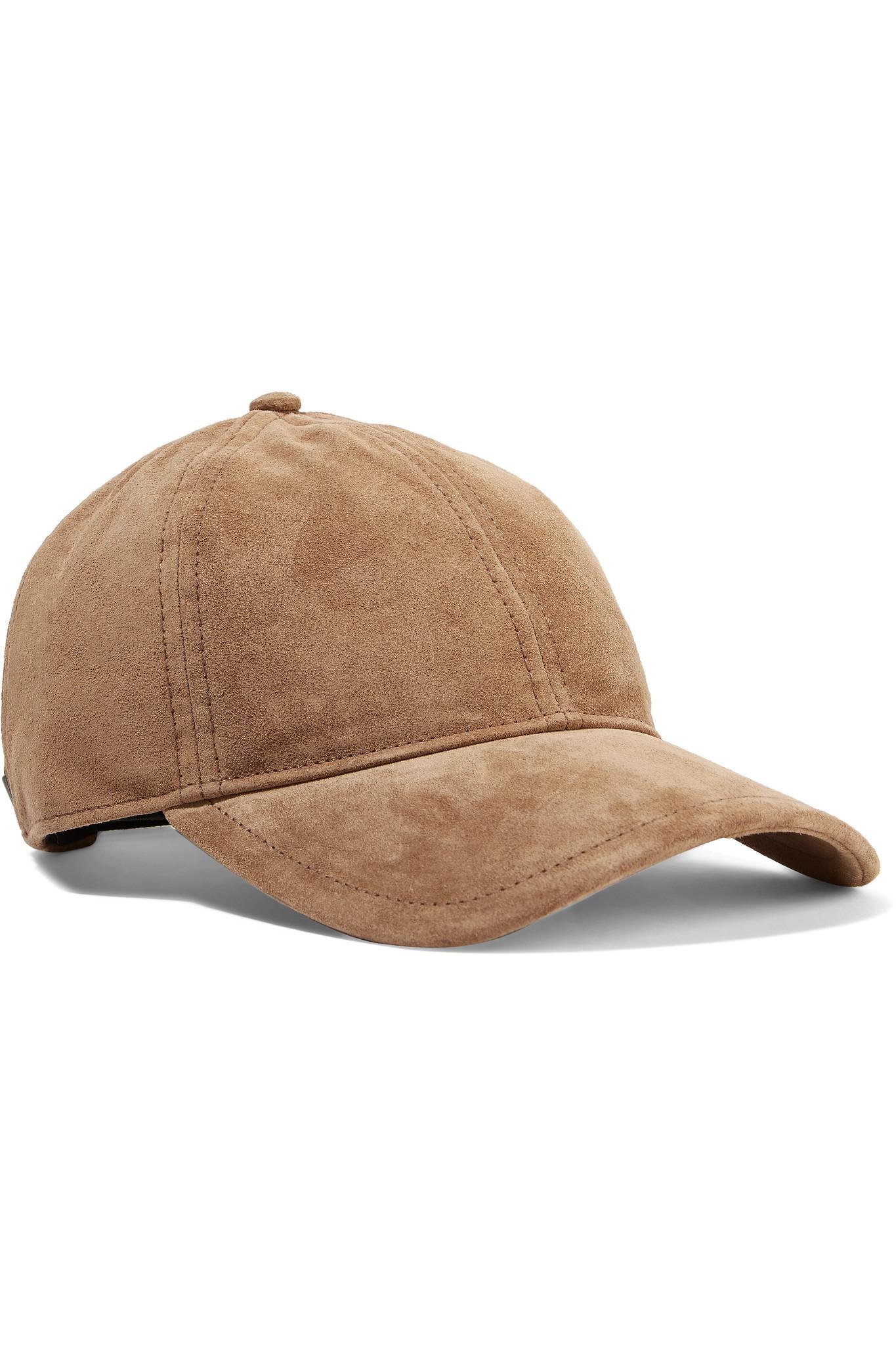 cf0e13c468eb7 Rag   Bone Marilyn Leather-trimmed Suede Baseball Cap in Brown - Lyst