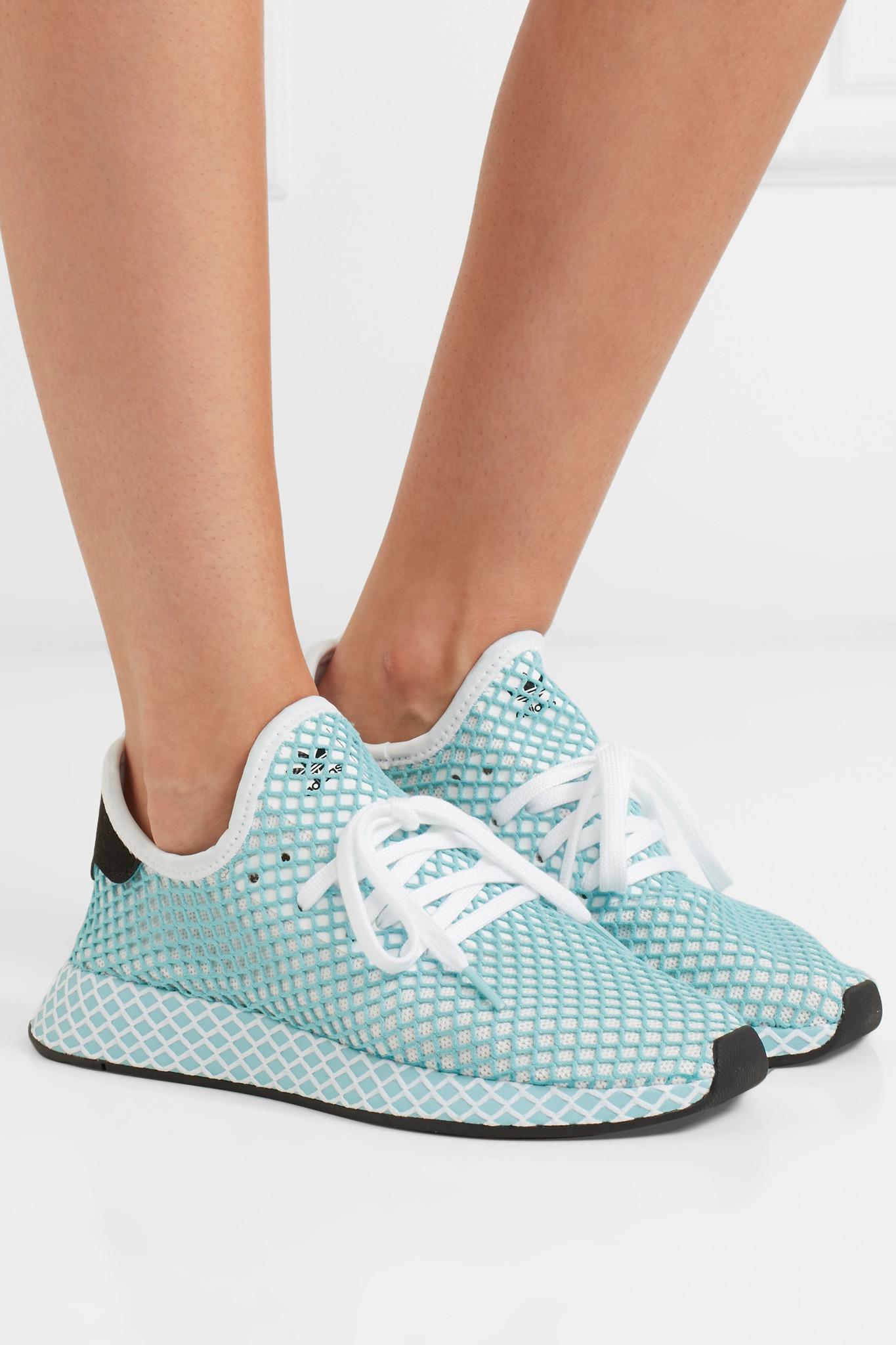 quality design f1054 1343e adidas Originals + Parley Deerupt Runner Suede-trimmed Mesh Sneakers ...