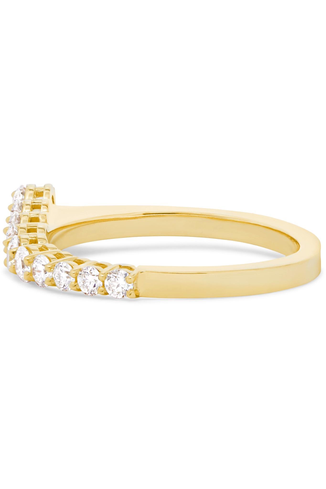 Melissa Kaye Aria 18-karat Gold Diamond Ring HmTF6NH