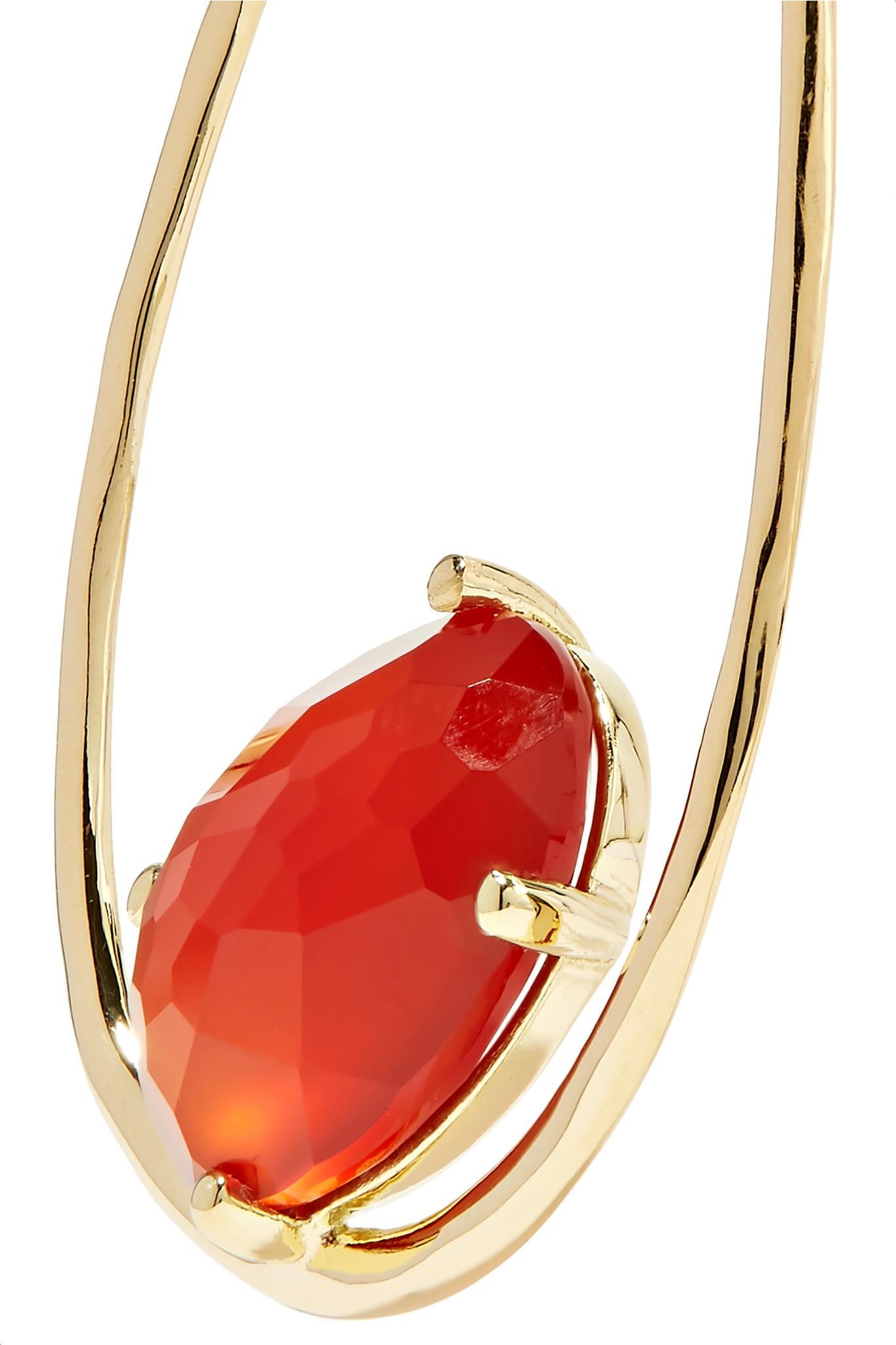 Ippolita Rock Candy 18-karat Gold Carnelian Earrings KTv6TX
