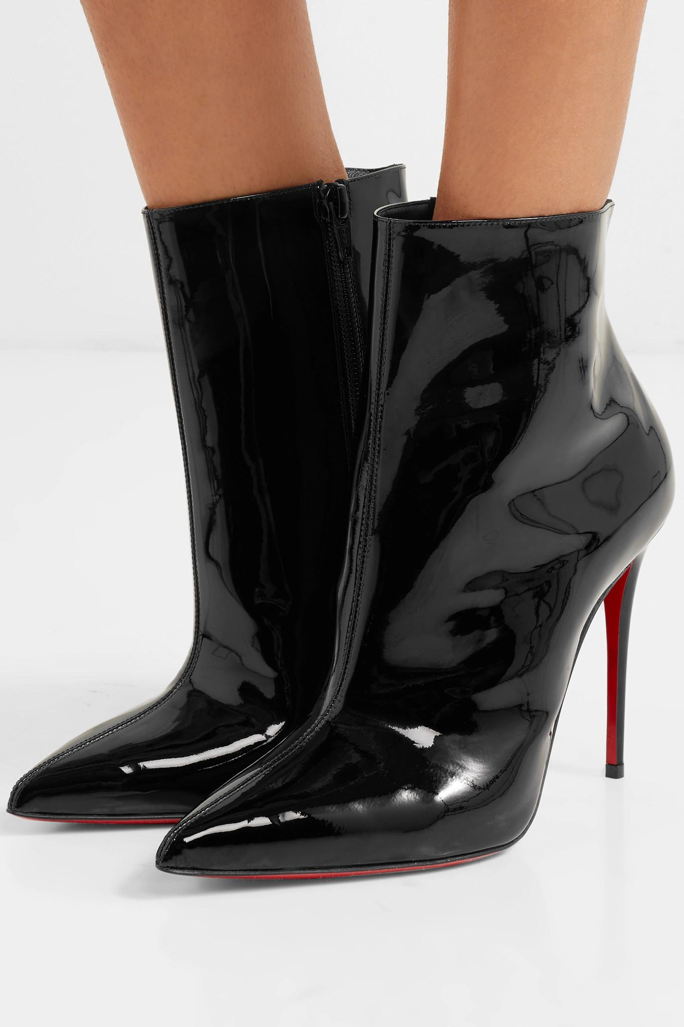 8df8a90bf1c Christian Louboutin - Black So Kate Booty 100 Patent-leather Ankle Boots -  Lyst. View fullscreen