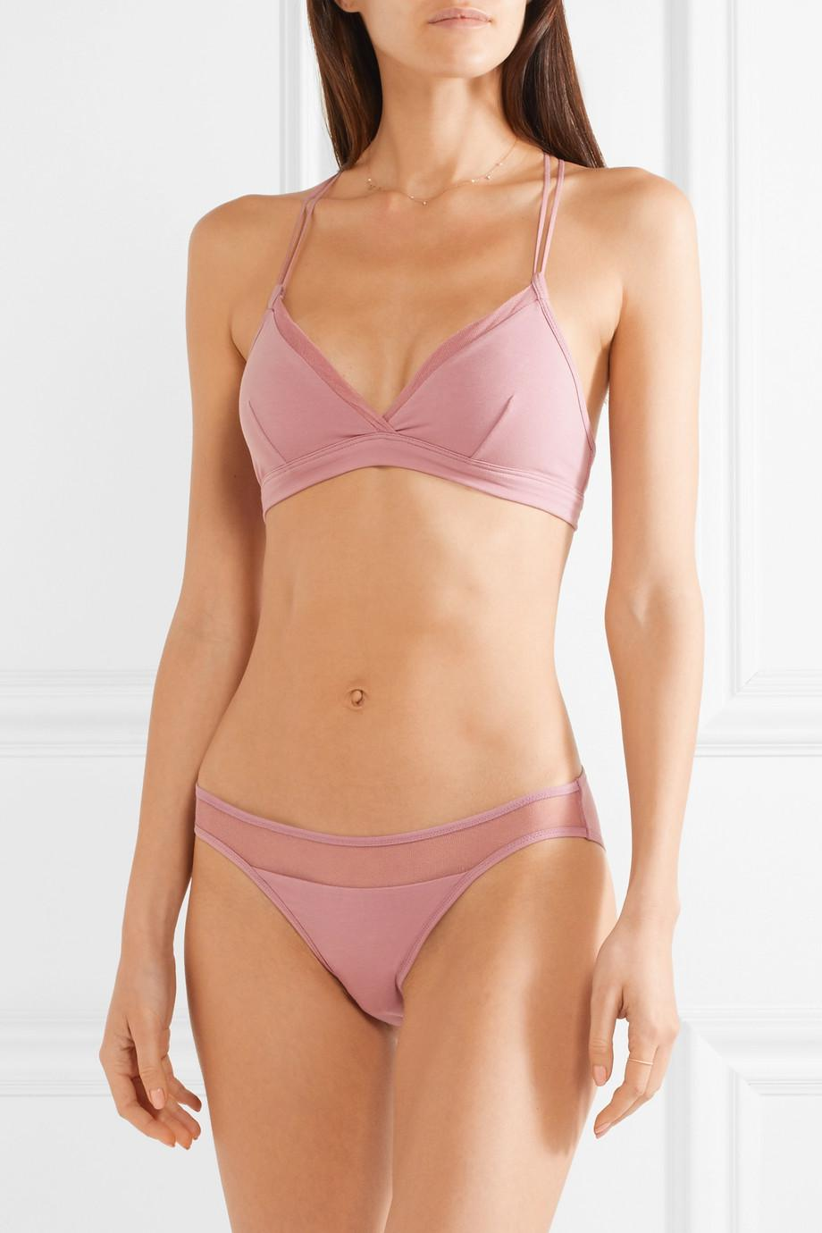 Orla Tulle-trimmed Stretch Organic Pima Cotton-jersey Soft Cup Bra - Antique rose Skin Free Shipping For Nice Cheap Best Store To Get Largest Supplier Cheap Online Fake For Sale Cheap Sale 100% Guaranteed xnmfOXPuZT