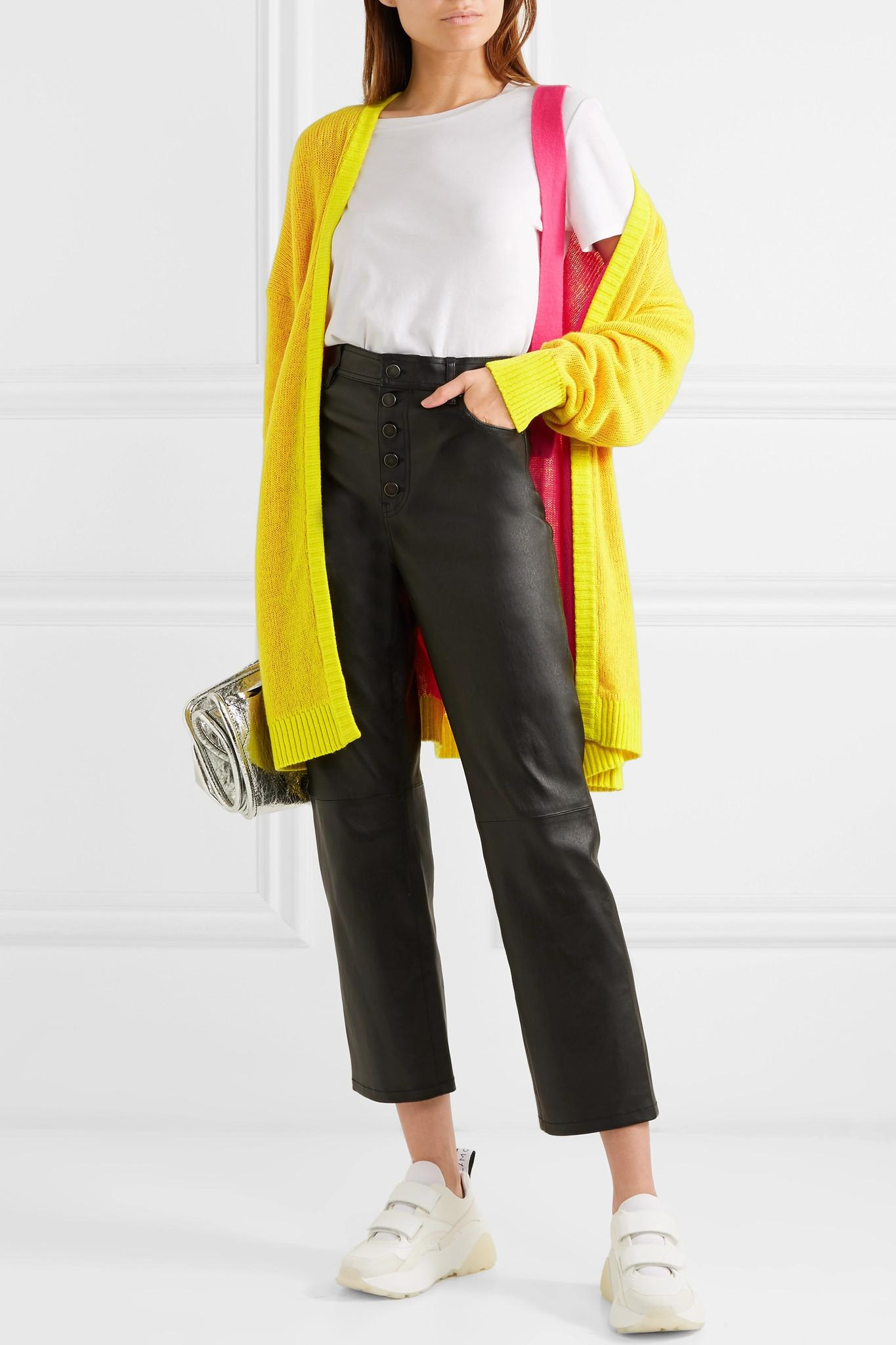 72bd4d456e Tre by Natalie Ratabesi - Yellow Miki Oversized Cashmere Cardigan - Lyst.  View fullscreen