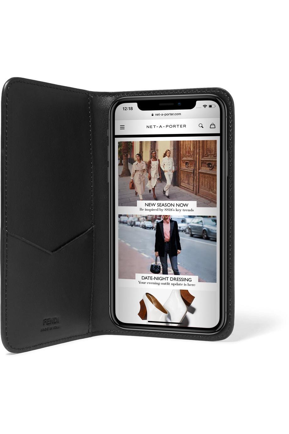 Fendi Floqué Cuir Iphone X Cas - Marron Boutique Vente En Ligne y8TPh2eE