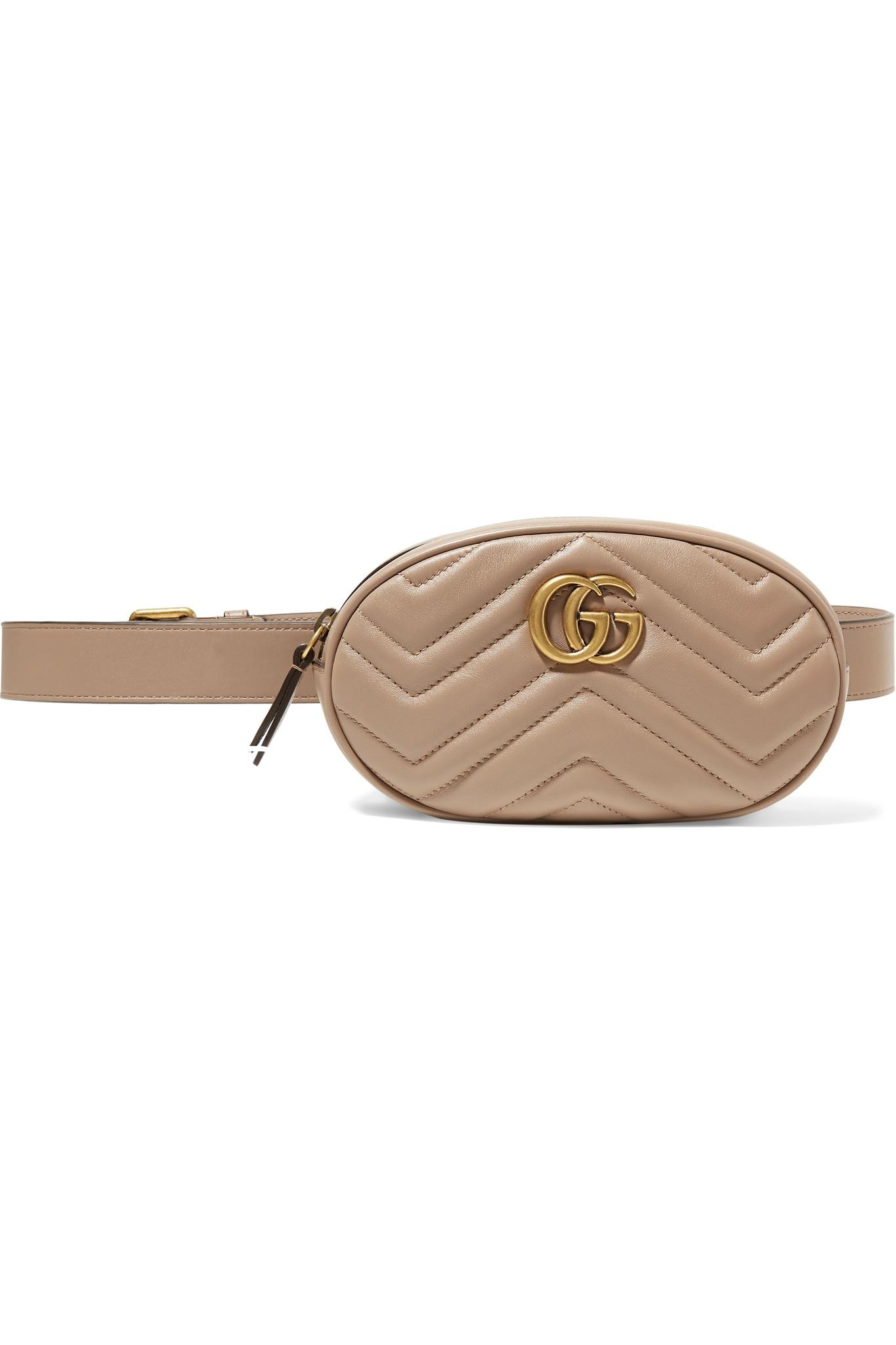 7c76c46d62b Gucci. Women s Gg Marmont Quilted Leather Belt Bag