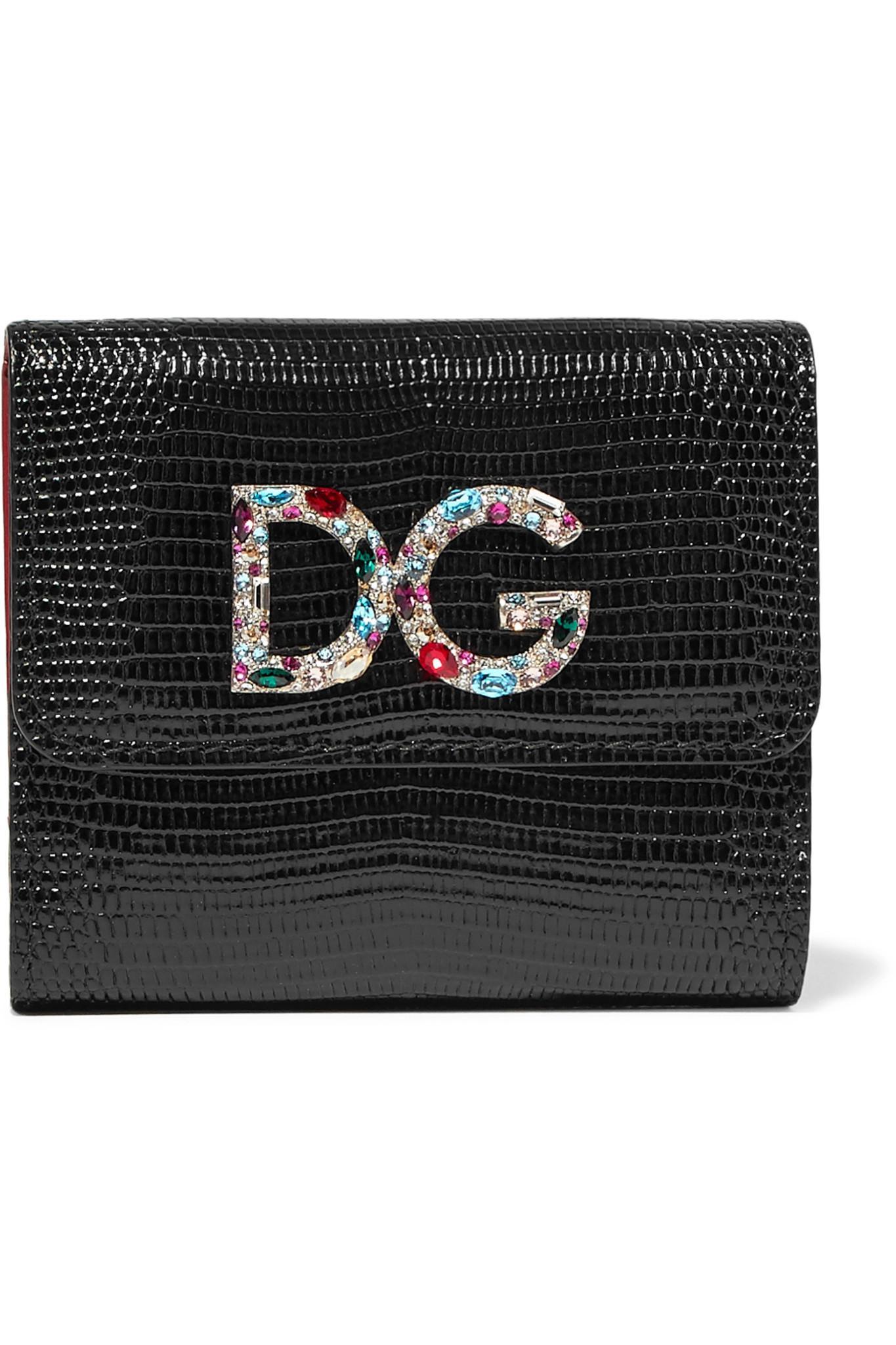 Dolce & Gabbana Porte-cartes en cuir à ornements qgRH66km
