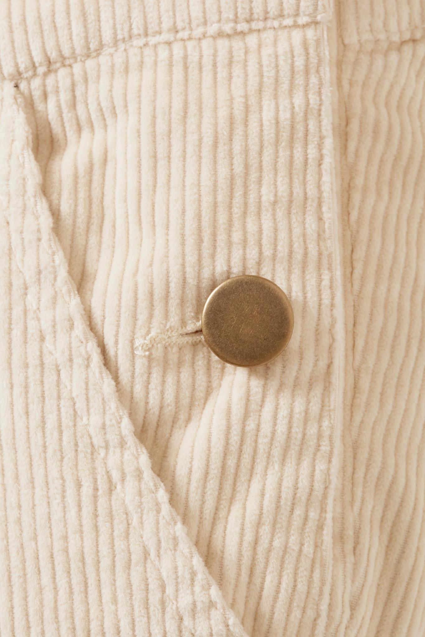e1309f43d960 HATCH - White The Cord Cotton-blend Corduroy Overalls - Lyst. View  fullscreen