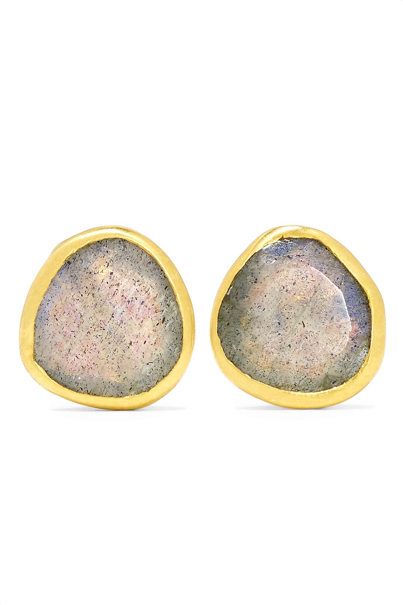 Pippa Small 18-karat Gold Labradorite Earrings KlDQrYGI