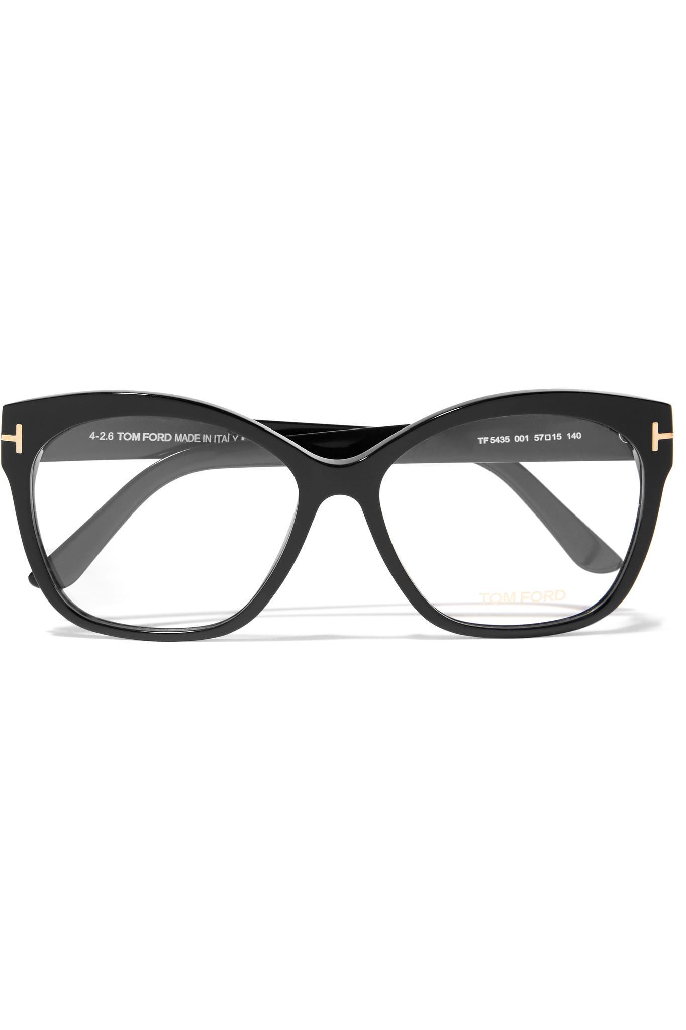 3226c4b9061 Tom Ford Square-frame Acetate Optical Glasses in Black - Lyst