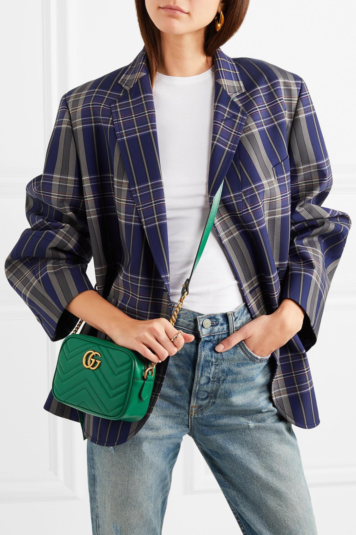 f3b7bfe61de Lyst - Gucci Gg Marmont Camera Mini Quilted Leather Shoulder Bag in ...